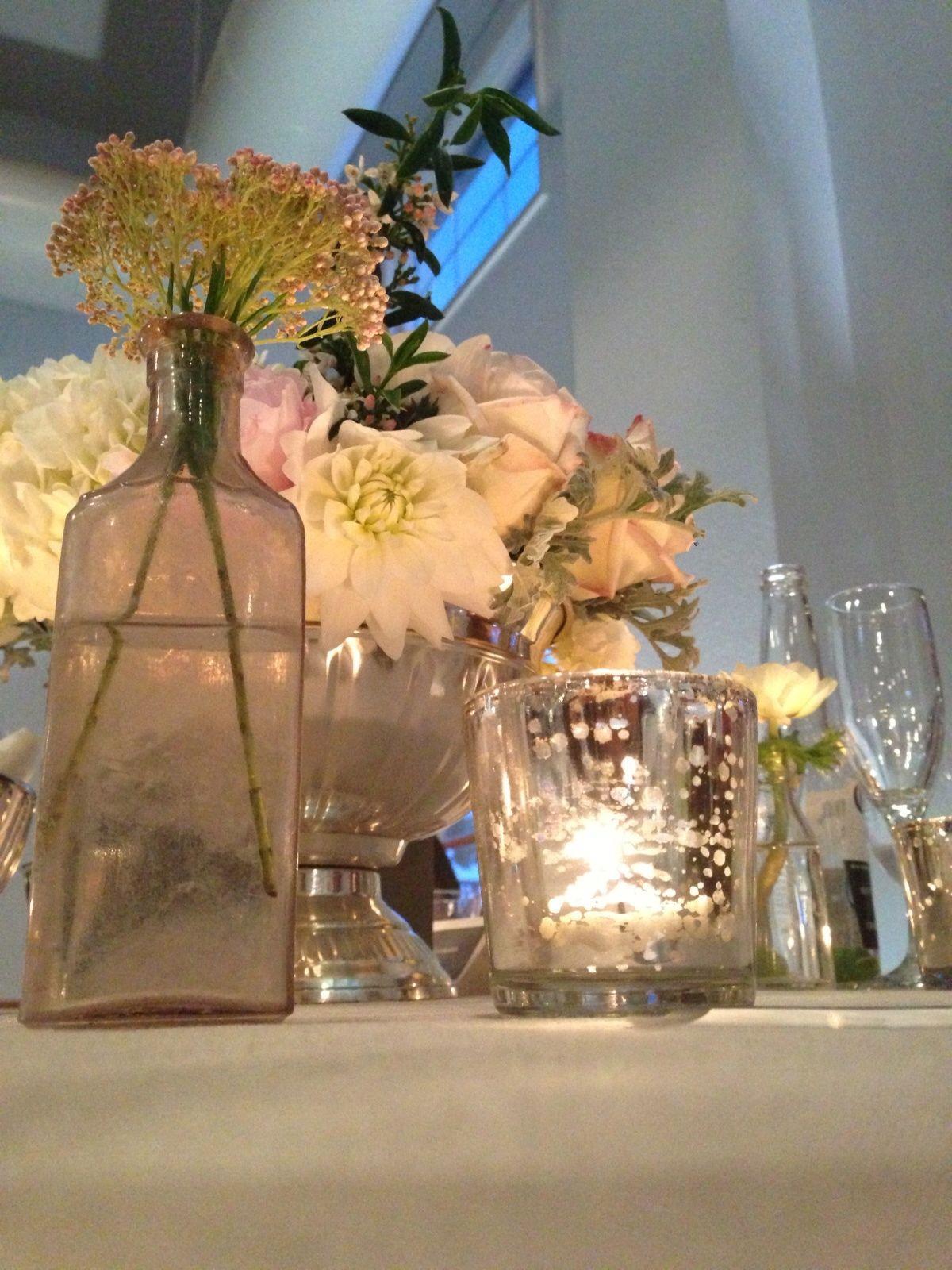 gold mercury hurricane vase of flowers reception candles centerpieces table decoration vase with regard to wedding table decor mercury votive candles and bud vases silver vintage antique centerpiece