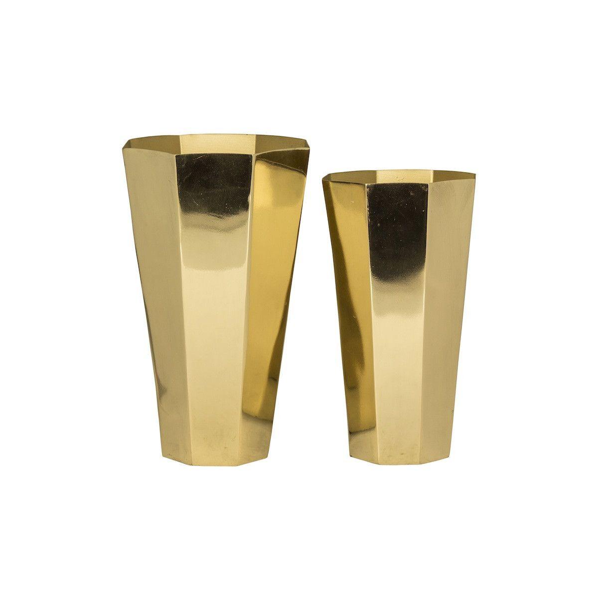 gold metal cylinder vase of felix pair of brass vases by broste copenhagen lo and behold regarding felix metal vase set of 2