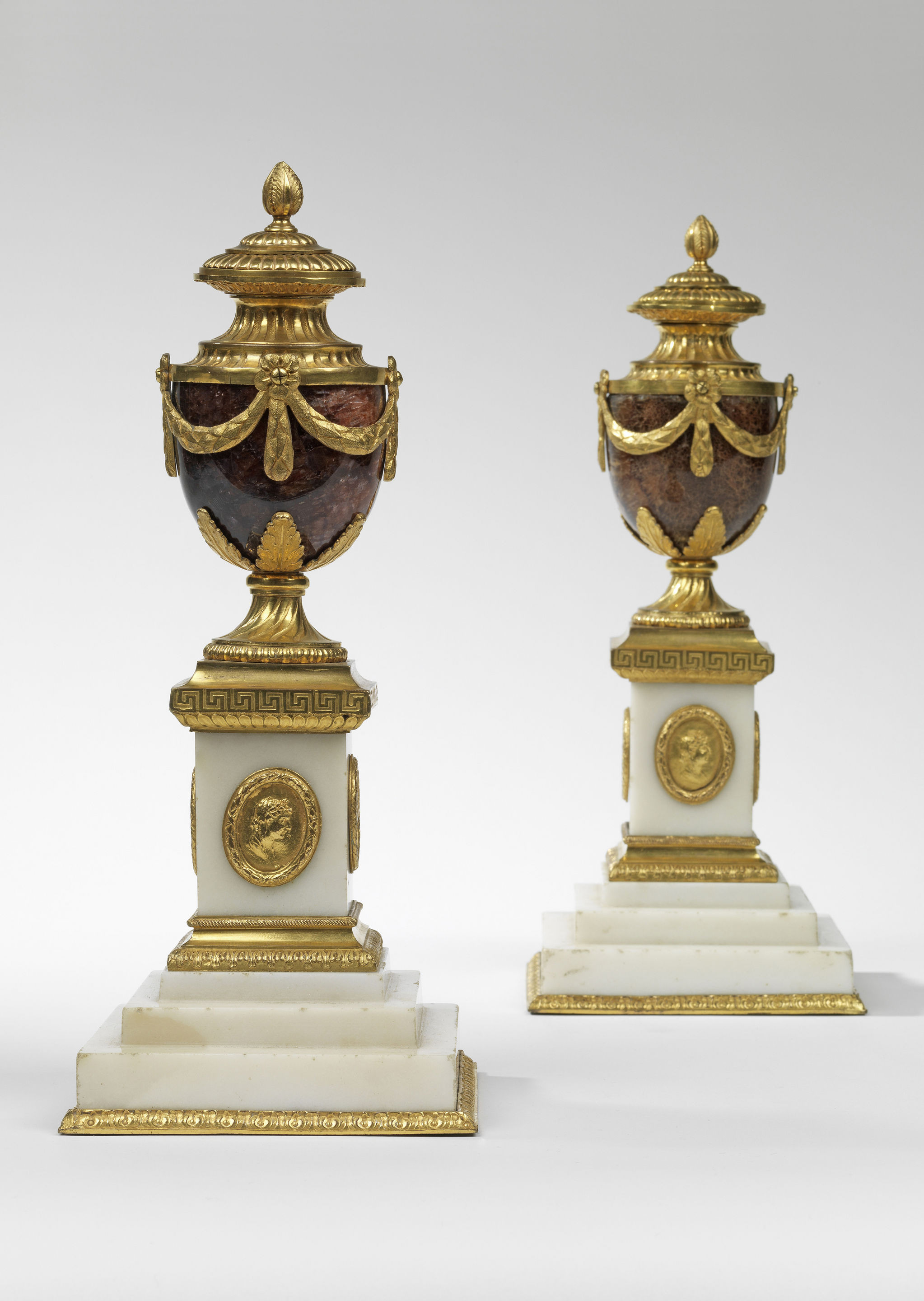 gold mosaic vase of a pair of matthew boulton cleopatra candle vases c 1770 england in a pair of matthew boulton cleopatra candle vases