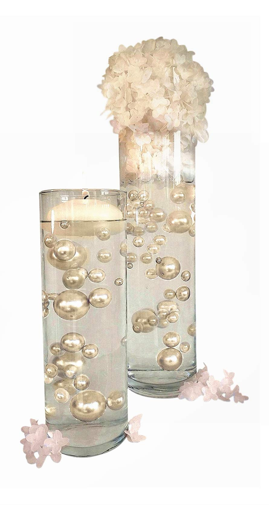 gold pearl vase fillers of best floating pearls for centerpieces amazon com pertaining to floating no hole ivory pearls jumbo assorted sizes vase fillers for centerpieces decorations includes transparent water gels for floating the pearls