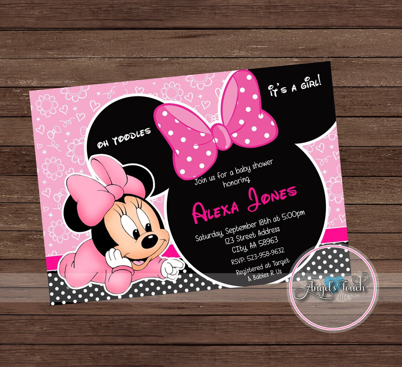 "gold polka dot vase of minnie mouse baby shower invitation minnie mouse baby shower etsy regarding dŸ""Žzoom"