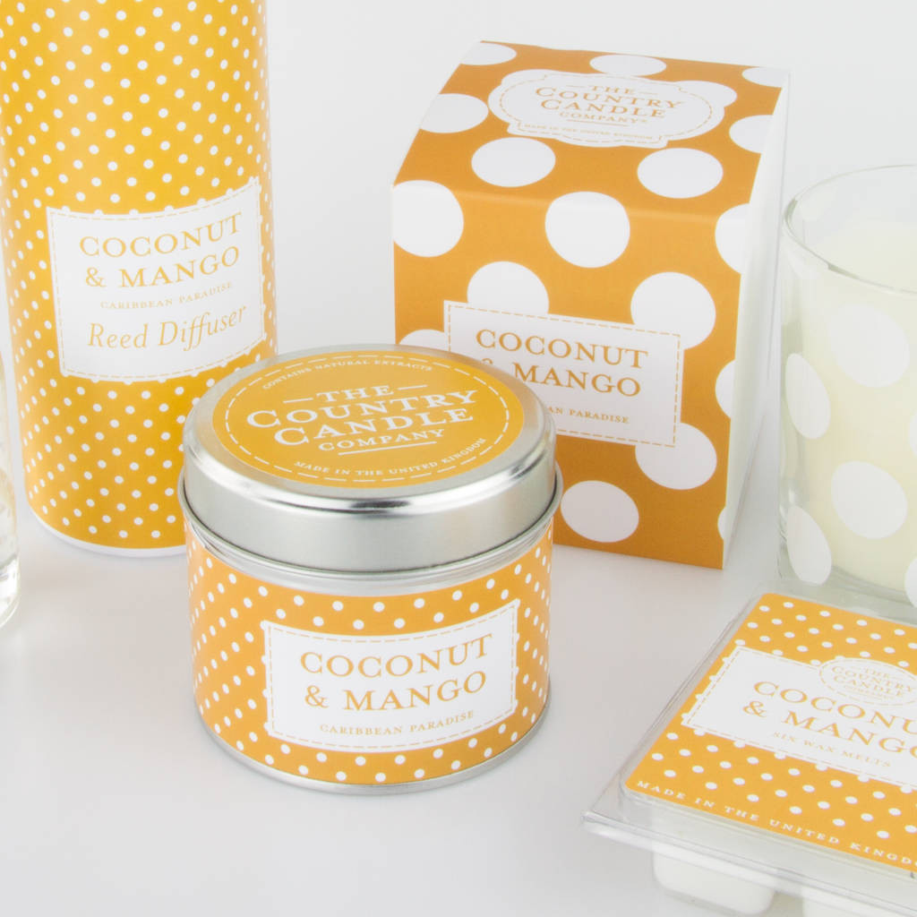 Gold Polka Dot Vase Of Polka Dot Scented Candle Collection by the Country Candle Company within Polka Dot Scented Candle Collection