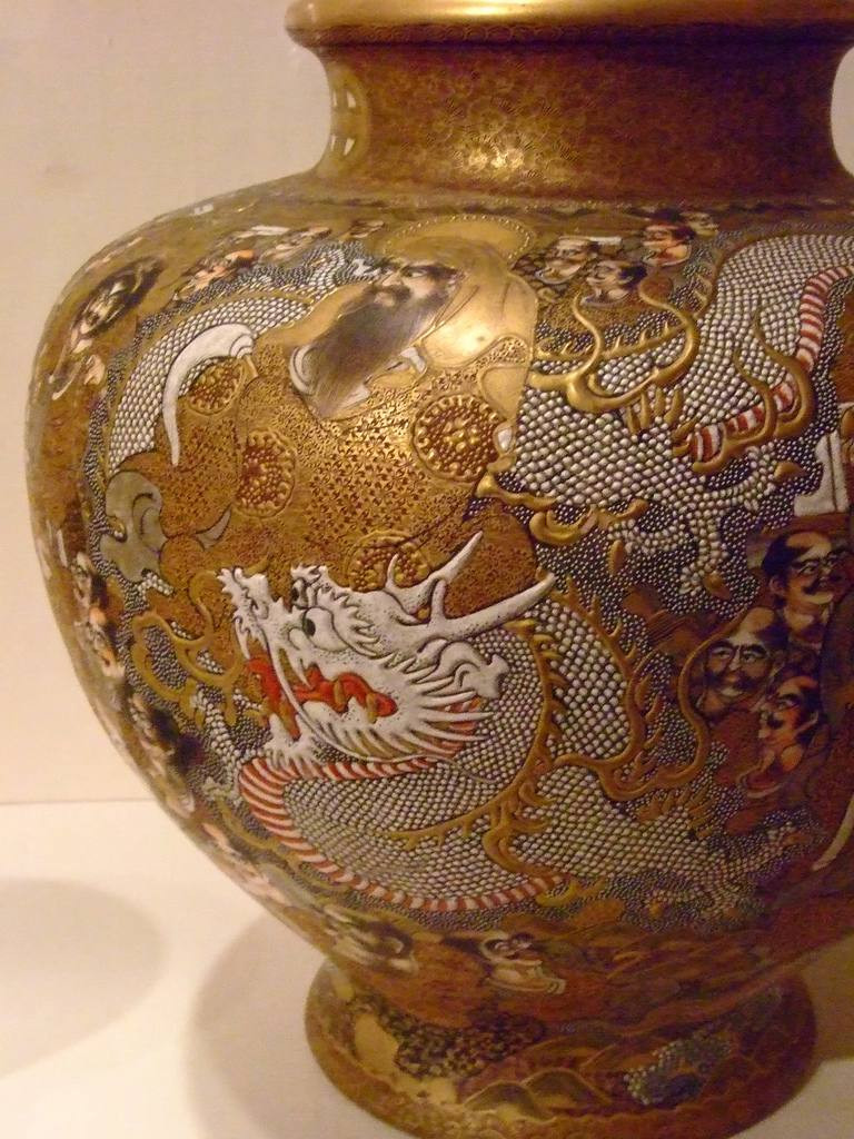 gold satsuma vase of the ceramic wars japan kidnaps korean artisans within this satsuma ware vase in now on display in the santa barbara museum in california