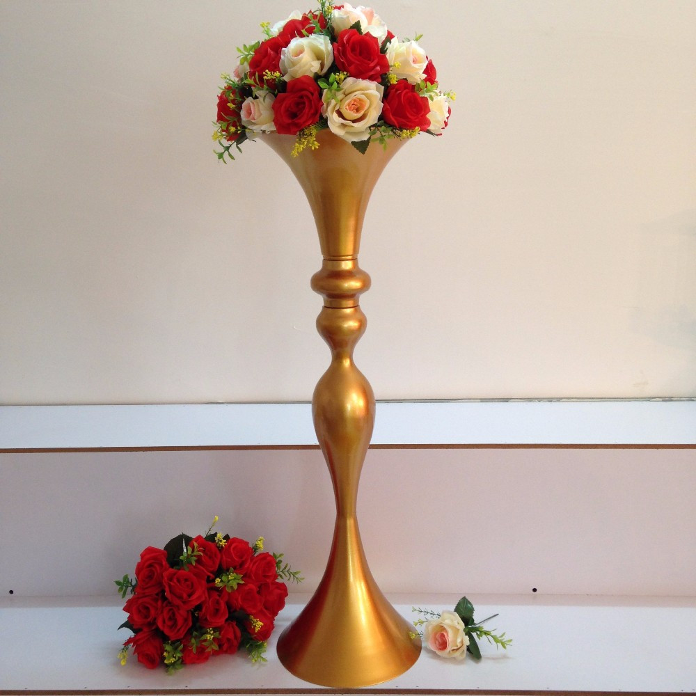 gold trumpet vase of aliexpress com buy 86cm 33 8 gold wedding flower stand flower within 8362 1 8362