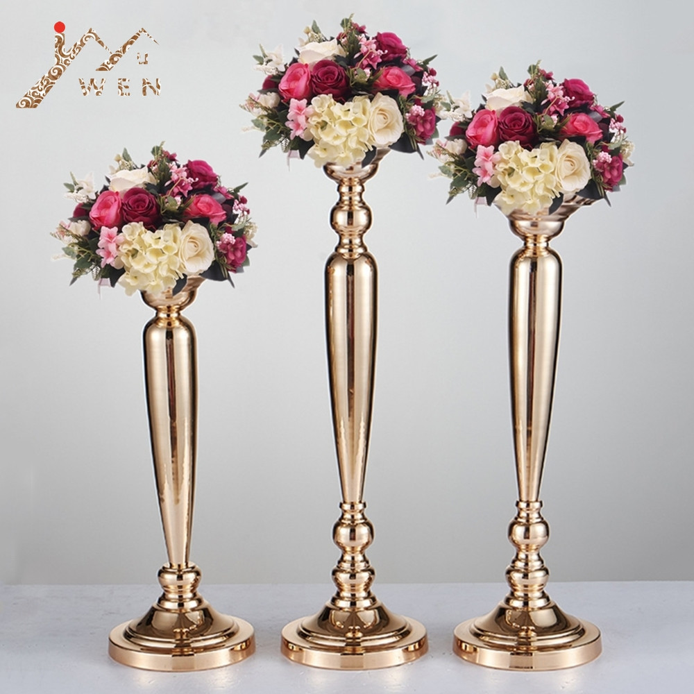 gold trumpet vase of aliexpress com buy gold vase metal flower road lead wedding table within 10 pcs lot classic metal golden candle holders wedding table road lead event party centerpiece