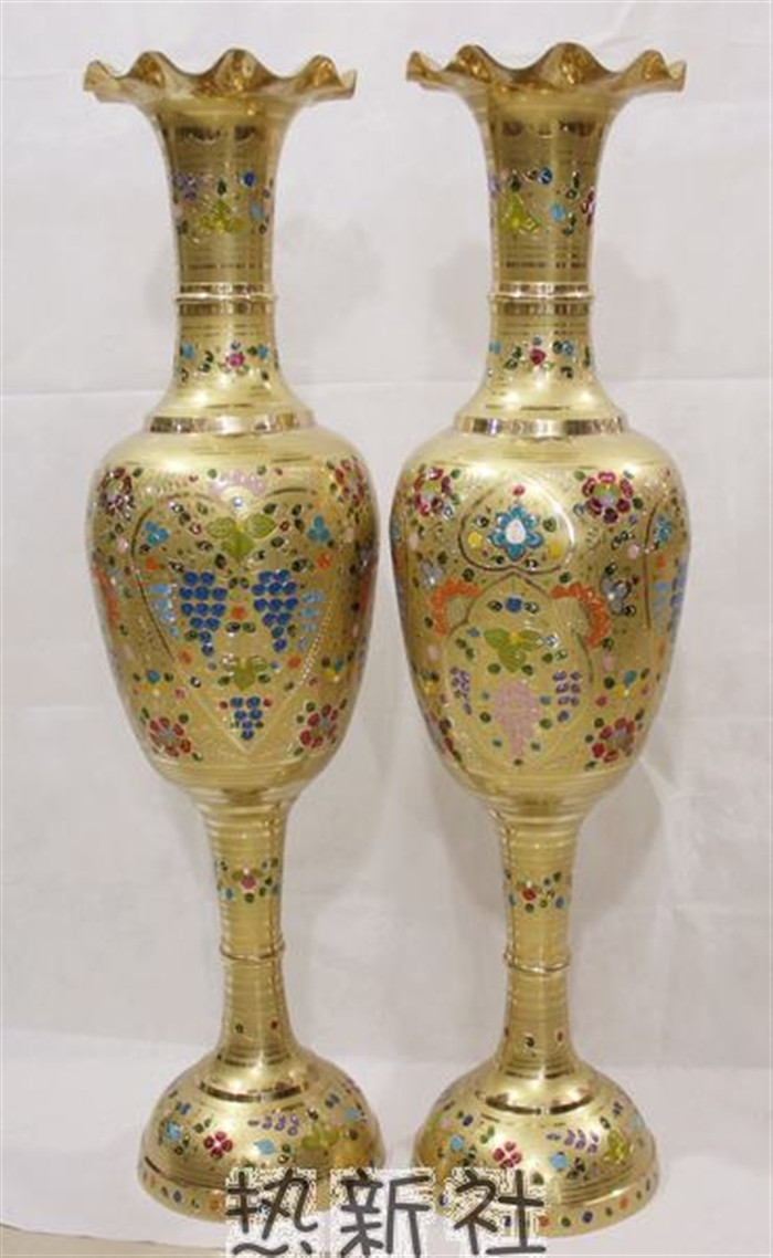 Gold Trumpet Vases for Sale Of A'¢pakistan Pakistan Arts and Crafts Import Bronze Vase Bronze 1m Intended for Pakistan Pakistan Arts and Crafts Import Bronze Vase Bronze 1m Gold Copper Vase