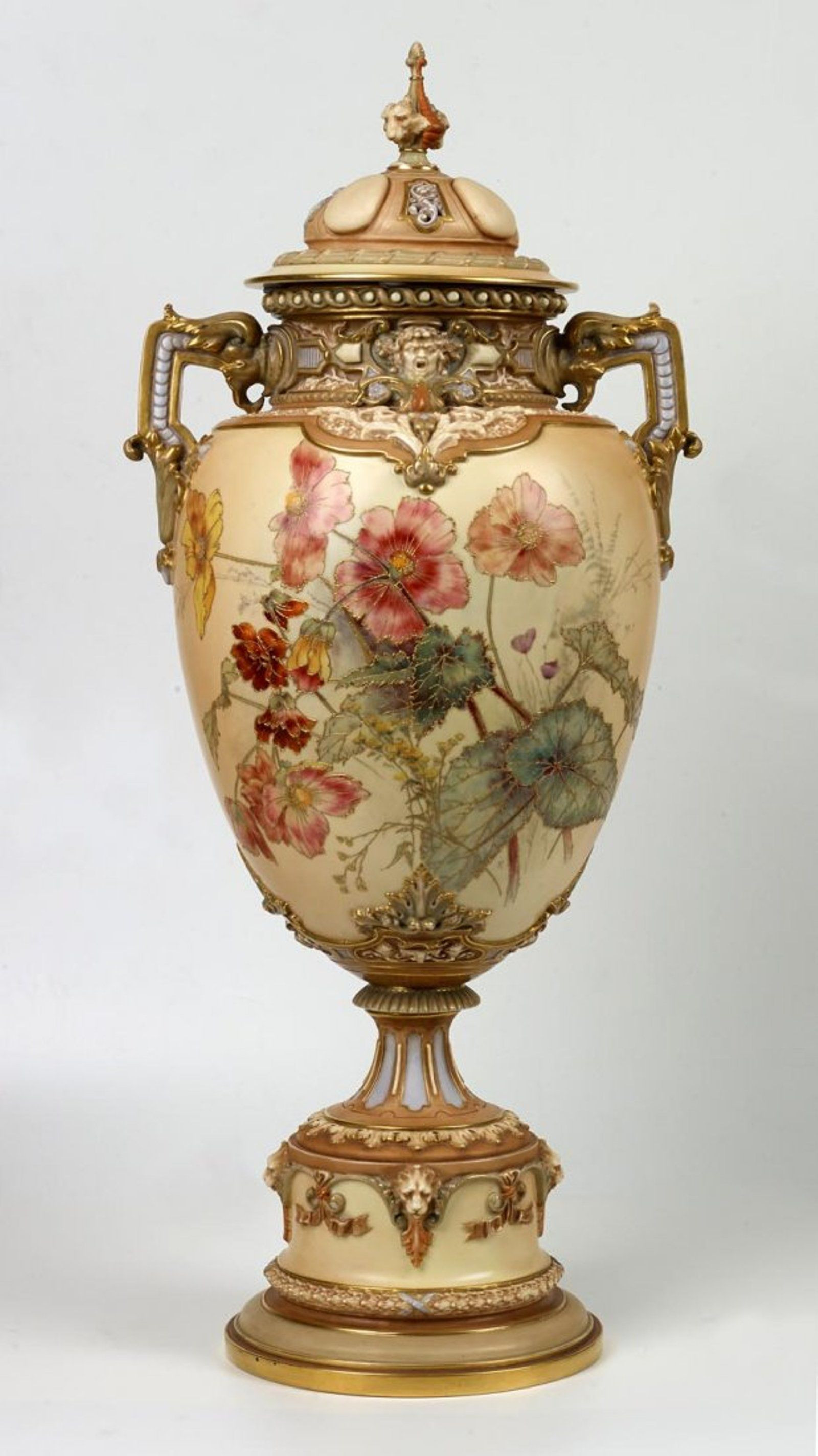 gold urn vase of a large royal worcester covered urn english circa 1894 keramia throughout a large royal worcester covered urn english circa 1894