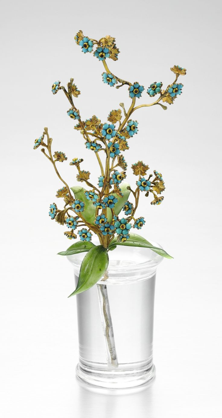 gold vase filler rocks of 1932 best silver gold glass images on pinterest glass vase with a faberga jewelled gold turquoise and hardstone study of forget me nots