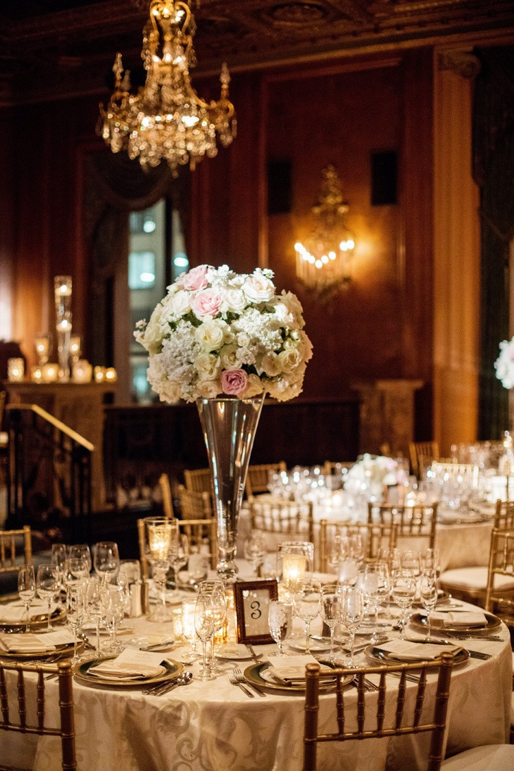 gold vases for wedding centerpieces of reception dacor photos gold and ivory reception with a hint of intended for blush and every centerpiece on large vase chiavari chairs
