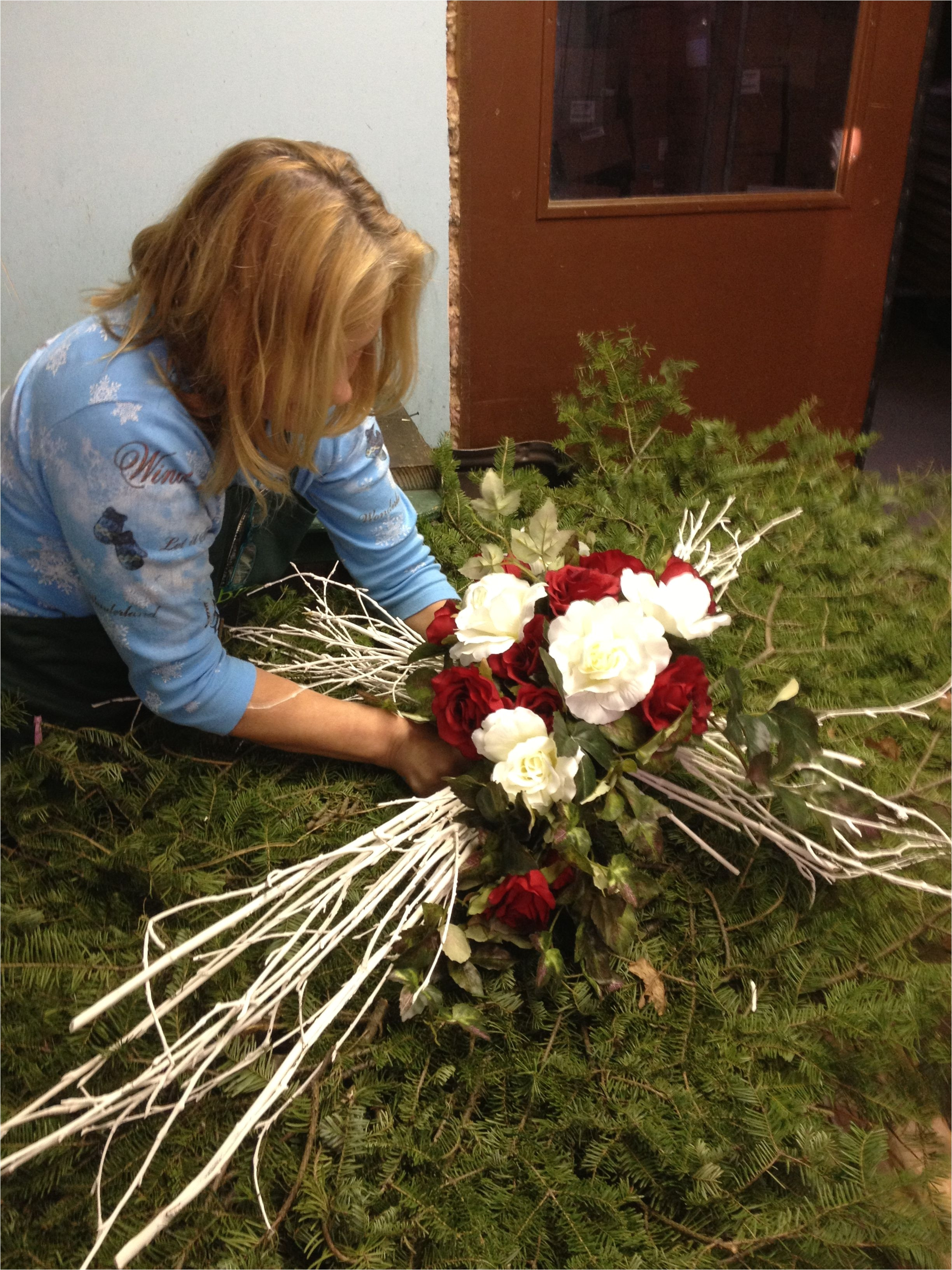grave vases for flowers of cross with flowers inspirational cemetery decoration ideas this intended for cross with flowers inspirational cemetery decoration ideas this cross was custom creat
