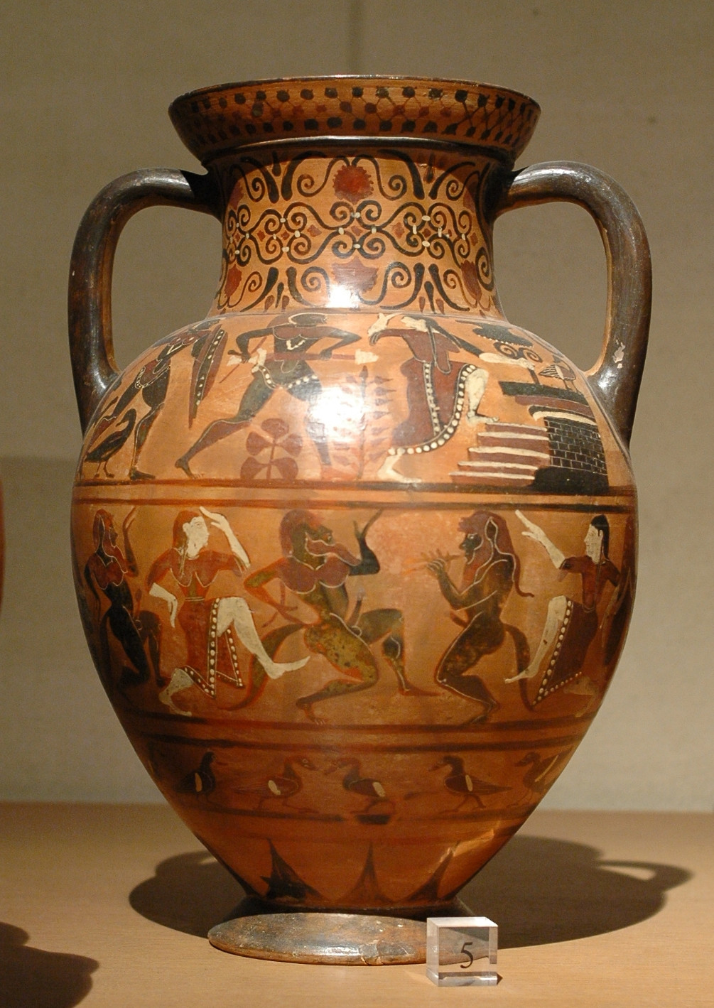 Grecian Style Vases Of Ceramic Art Wikipedia for Etruscan Amphora Louvre E703 Side B