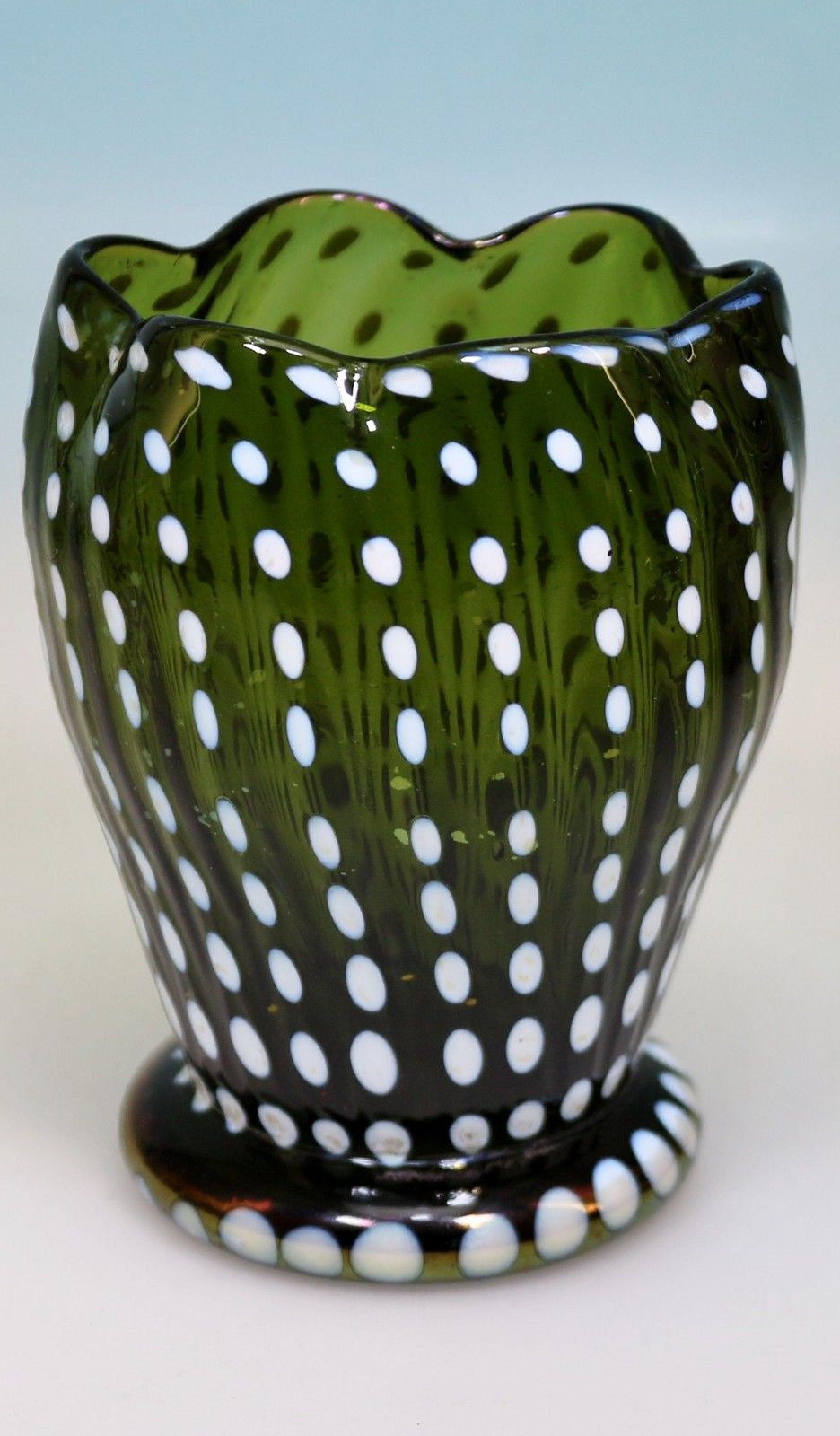 green blown glass vase of la¶tz art deco vase bronzeirisierung punktdekor loetz loetz for la¶tz art deco vase bronzeirisierung punktdekor loetz