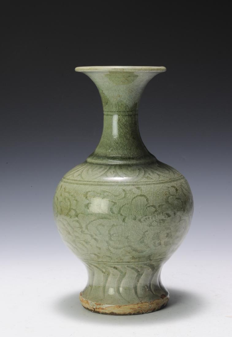 green celadon vase of longquan kiln vase yuan dynasty on porcelain celadon pinterest for longquan celadon vase from the yuan dynasty this vase has an olive green celadon glaze