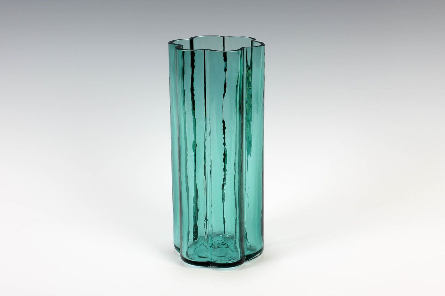 Green Glass Cylinder Vase Of Dansk Glass Flower Vase by Jens Quistgaard and Ritva Puotila Made In Dansk Glass Flower Vase by Jens Quistgaard and Ritva Puotila Made In Finland Aqua 8 5 Inch by thepapers On Etsy