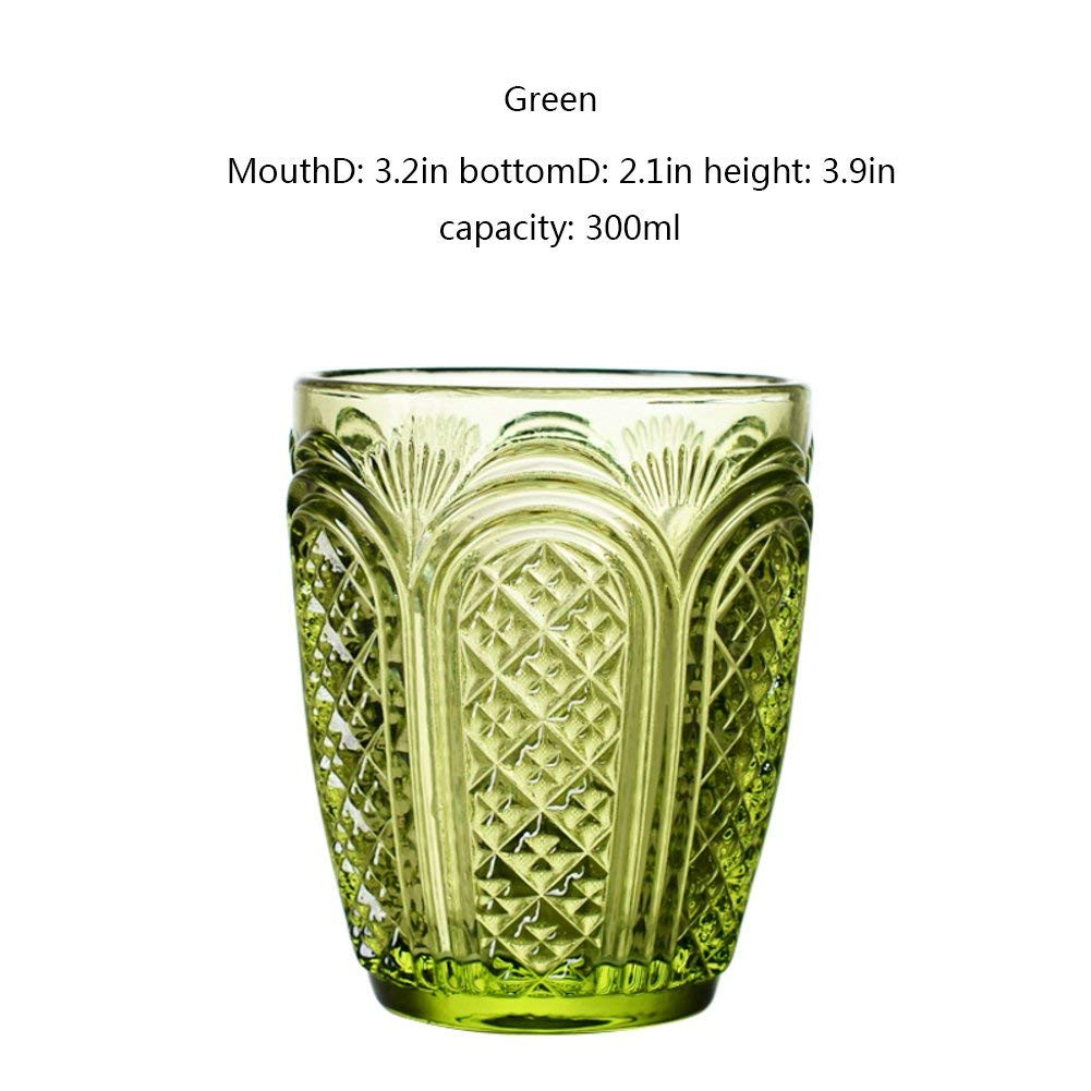 green milk glass vase of amazon com 4color retro embossed glass breakfast milk cup juice in amazon com 4color retro embossed glass breakfast milk cup juice beverage household water cup beer wiskey highball glass amber 300ml mixed drinkware sets