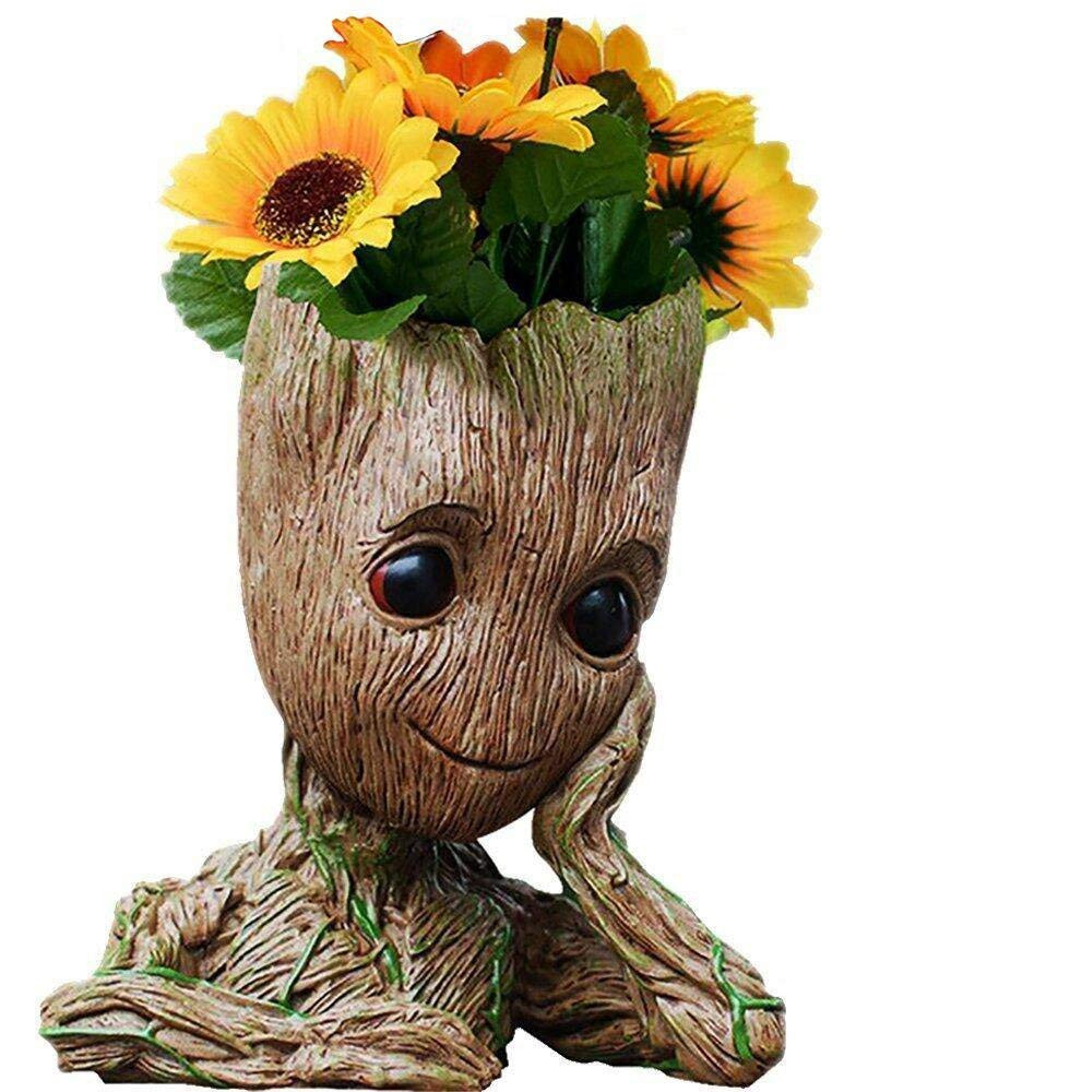 Groot Mini Vase Of Amazon Com Aotuman Desk organizer Storage Containers Flower Pot Regarding Amazon Com Aotuman Desk organizer Storage Containers Flower Pot Perfect for Tiny Succulent Plants Pen Holder Container Candy Dish Home Decor