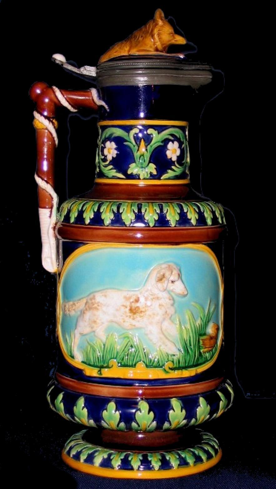 gurgling fish vase of majolica pitcher majolica jug majolica ewers in george jones majolica
