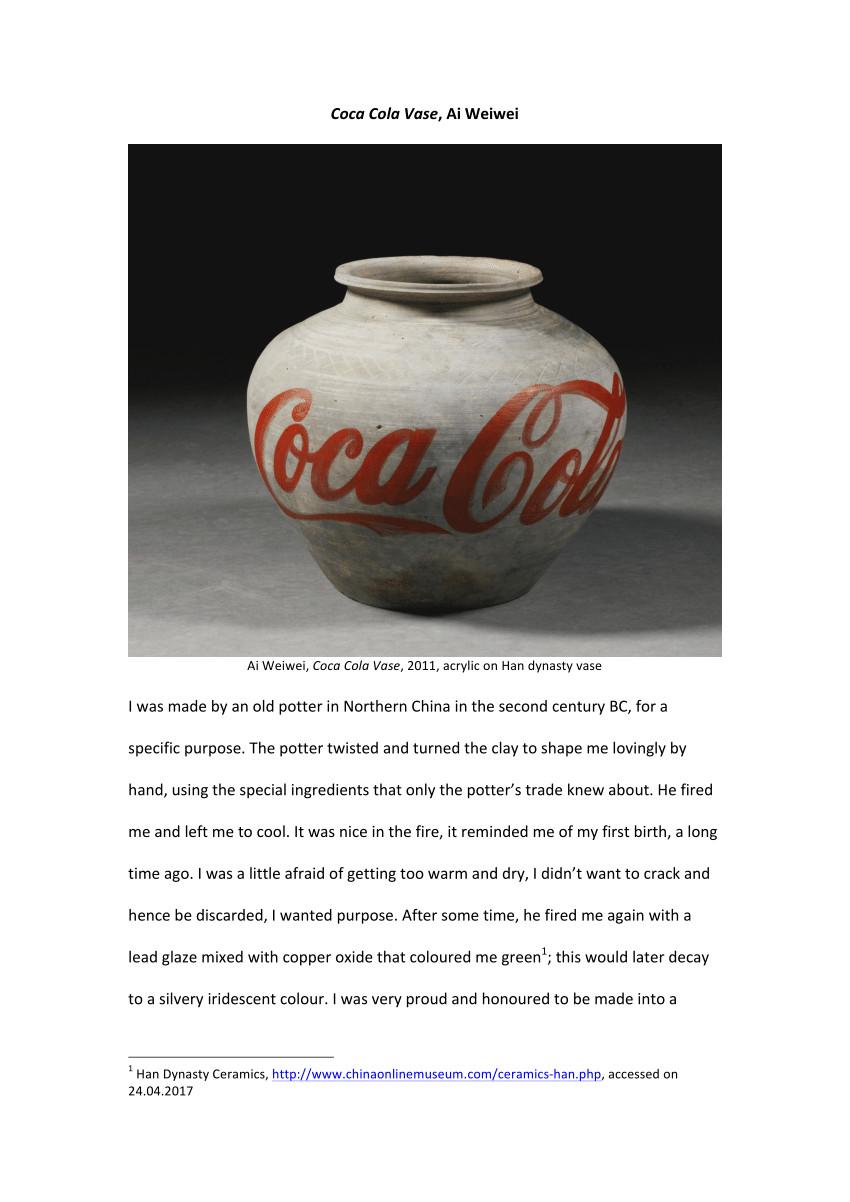 han dynasty vase of pdf coca cola vase ai weiwei with pdf coca cola vase ai weiwei
