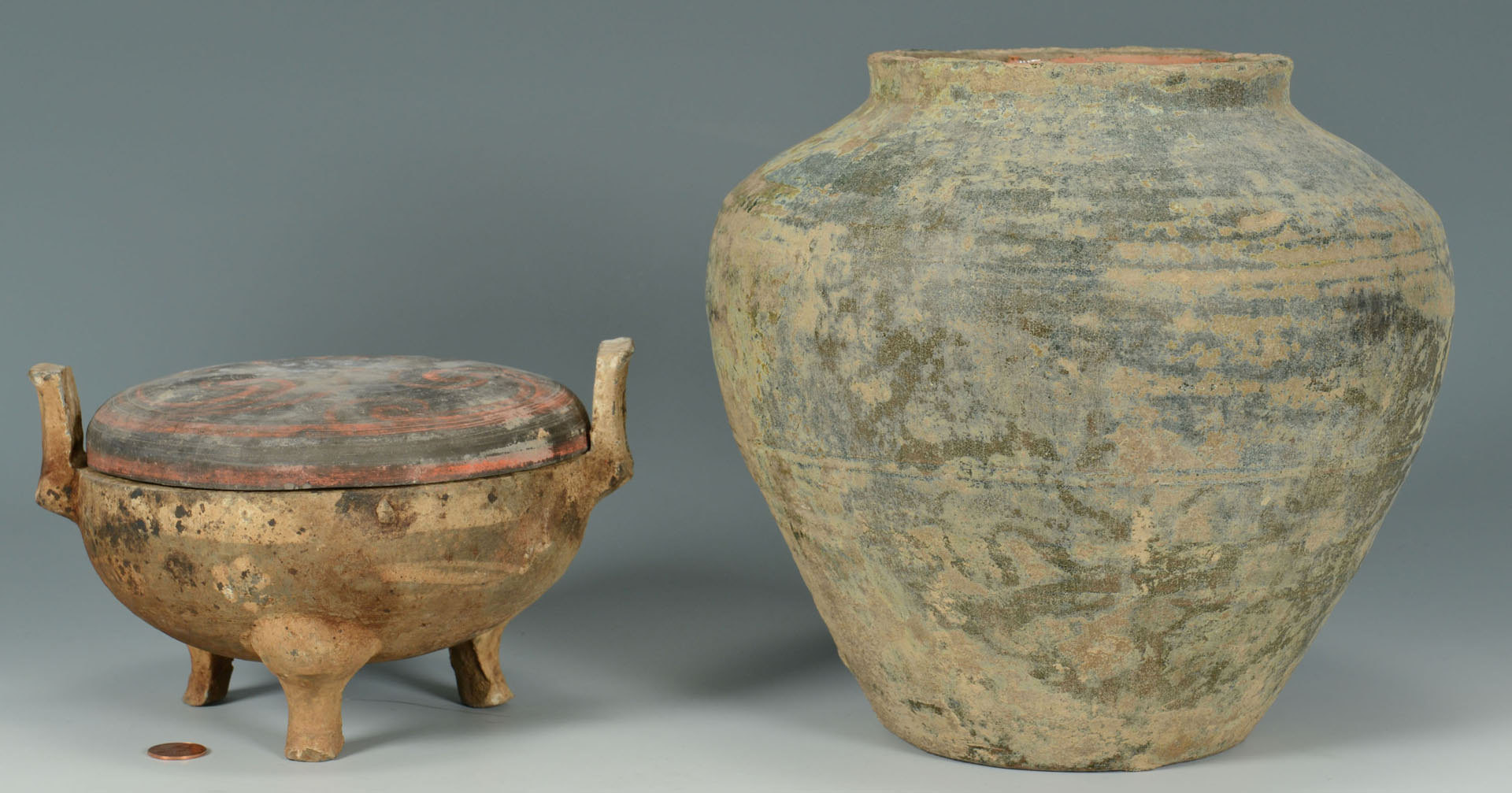 han dynasty vase value of lot 3088300 2 chinese han dynasty pottery vessels within 3088300 1