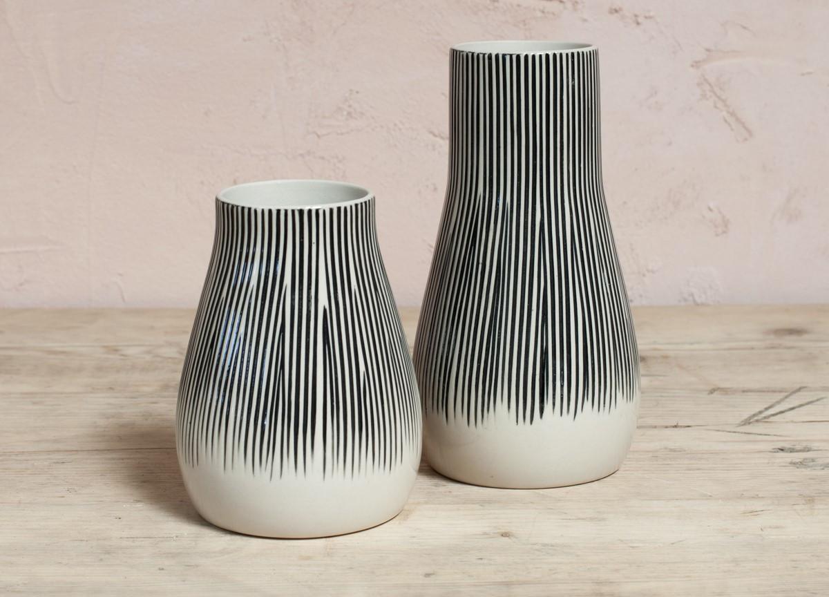 hand carved wooden vases of matamba ceramic vase lines nkuku inside mv05 1
