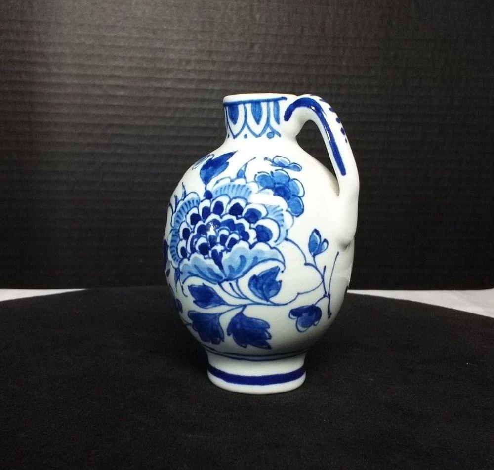 hand painted delft holland vase of royal delft de porceleyne fles floral bud vase jug 3 5 1969 with royal delft de porceleyne fles floral bud vase jug 3 5 1969 holland delft holland and china art