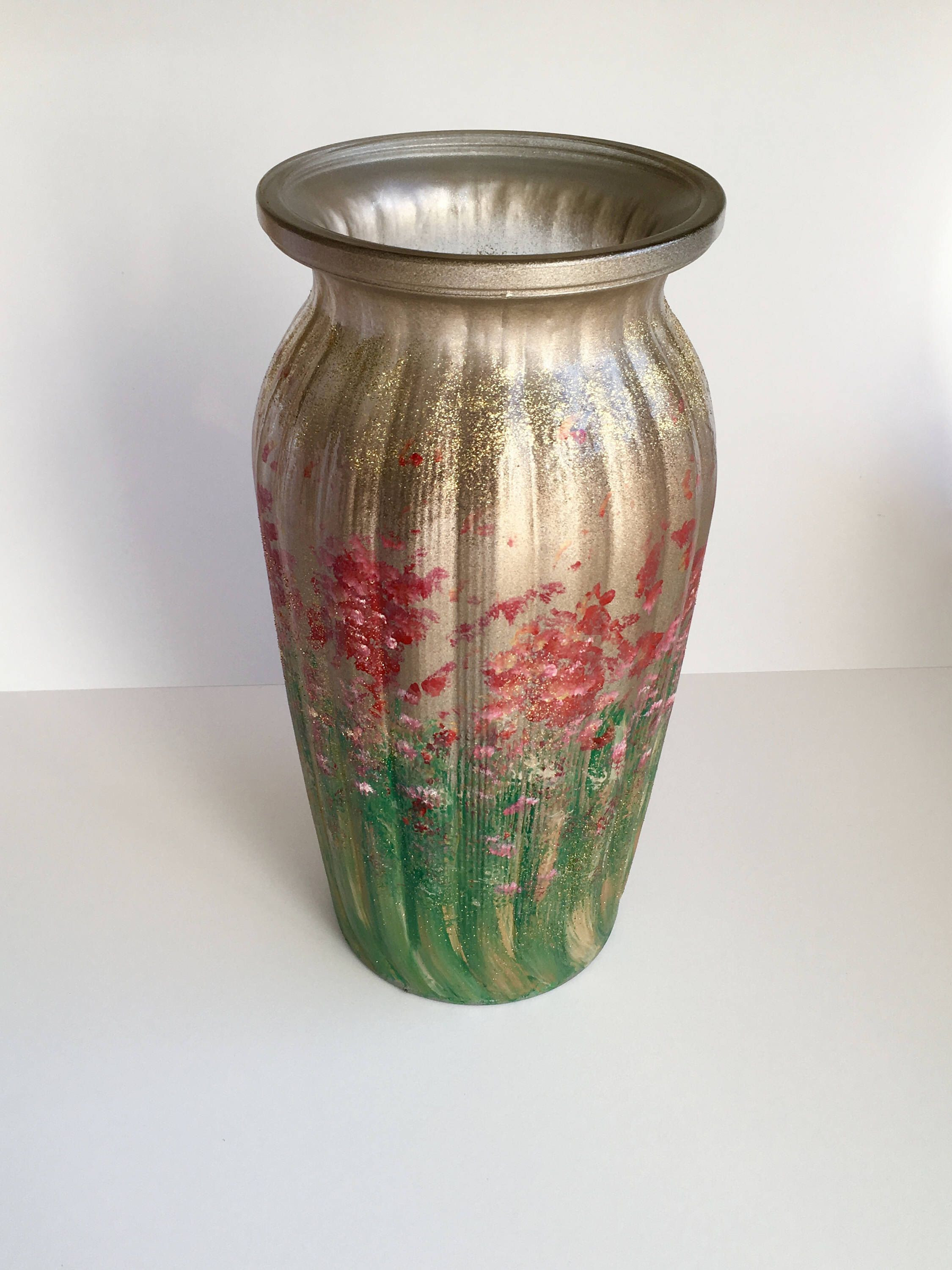 hand painted floor vase of glittering hand painted glass vase from old clear flower vase https within glittering hand painted glass vase from old clear flower vase https www