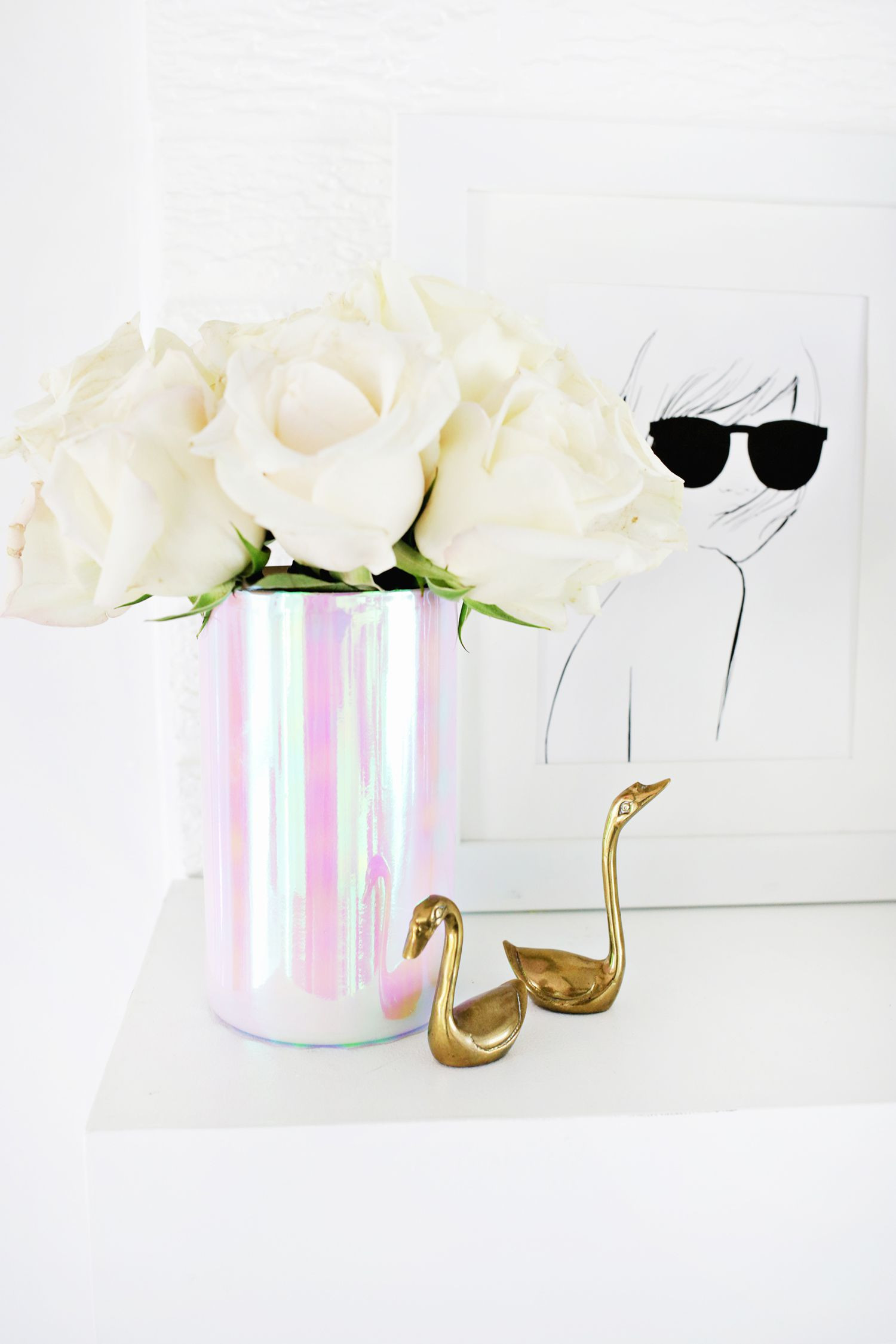 14 Fashionable Hand Painted Flower Vases