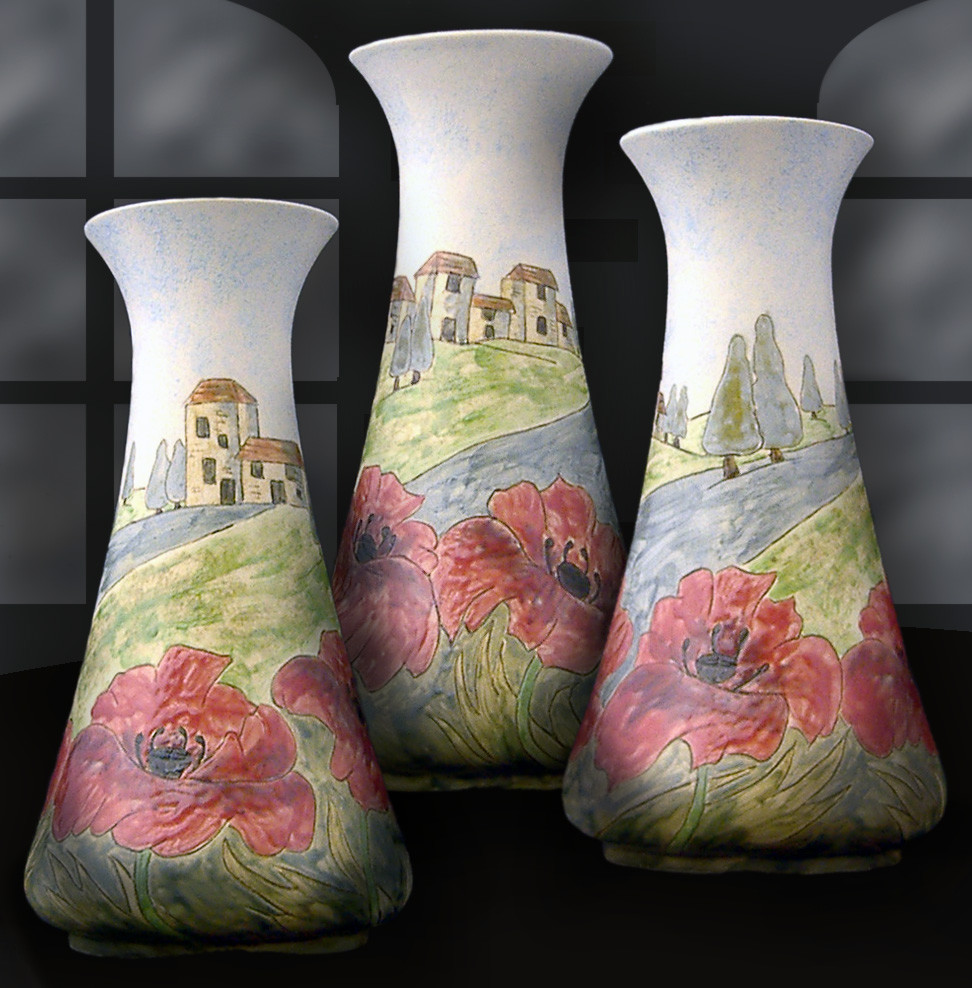 hand painted oriental vase of burslem pottery designed vase shop stoke on trent inside tuscany a beautiful decorative vase hand drawn and beautifully hand painted height 26cm