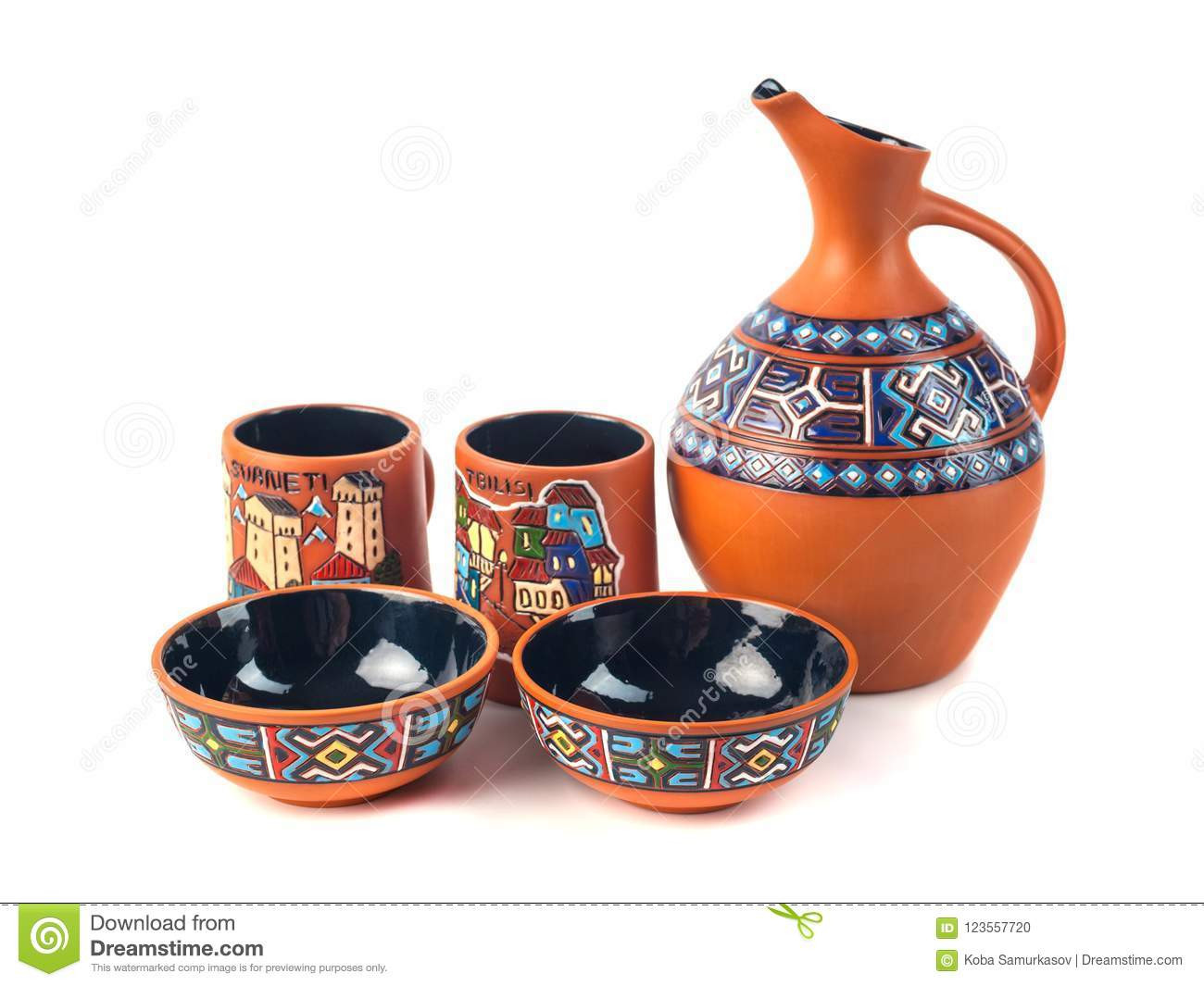 handmade ceramic vases for sale of georgian handmade ceramic clay jug with traditional ornaments stock in georgian handmade ceramic clay jug with traditional ornaments
