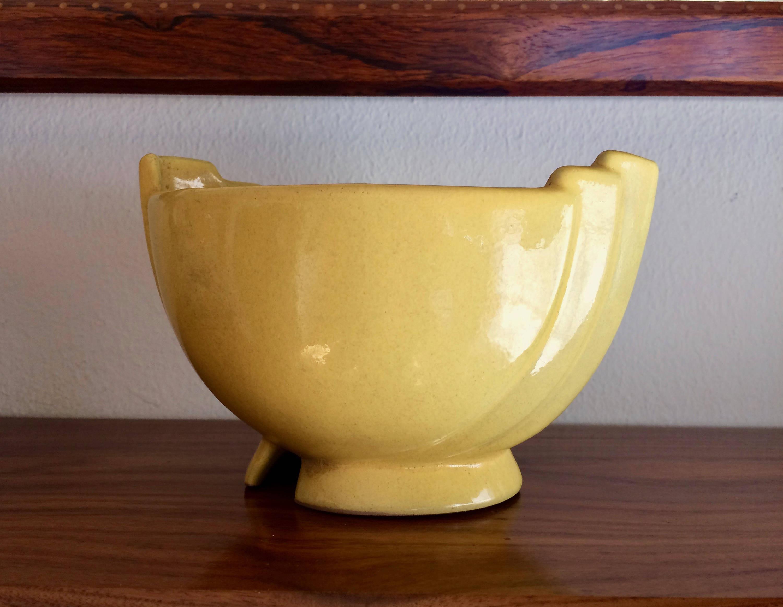 "handmade ceramic vases uk of mid century modern vintage ceramic mustard yellow in dŸ""Žzoom"