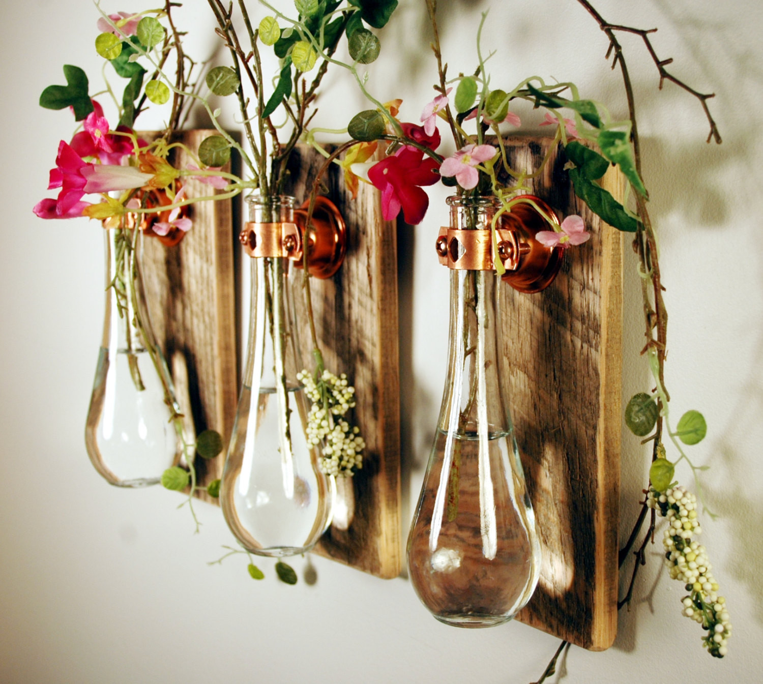 Hanging Bubble Vase Of Vase Wall Decor Wall Decor Ideas Inside Amazing Homemade Glass Bottle Vase Hang On Wooden Wall as Flower