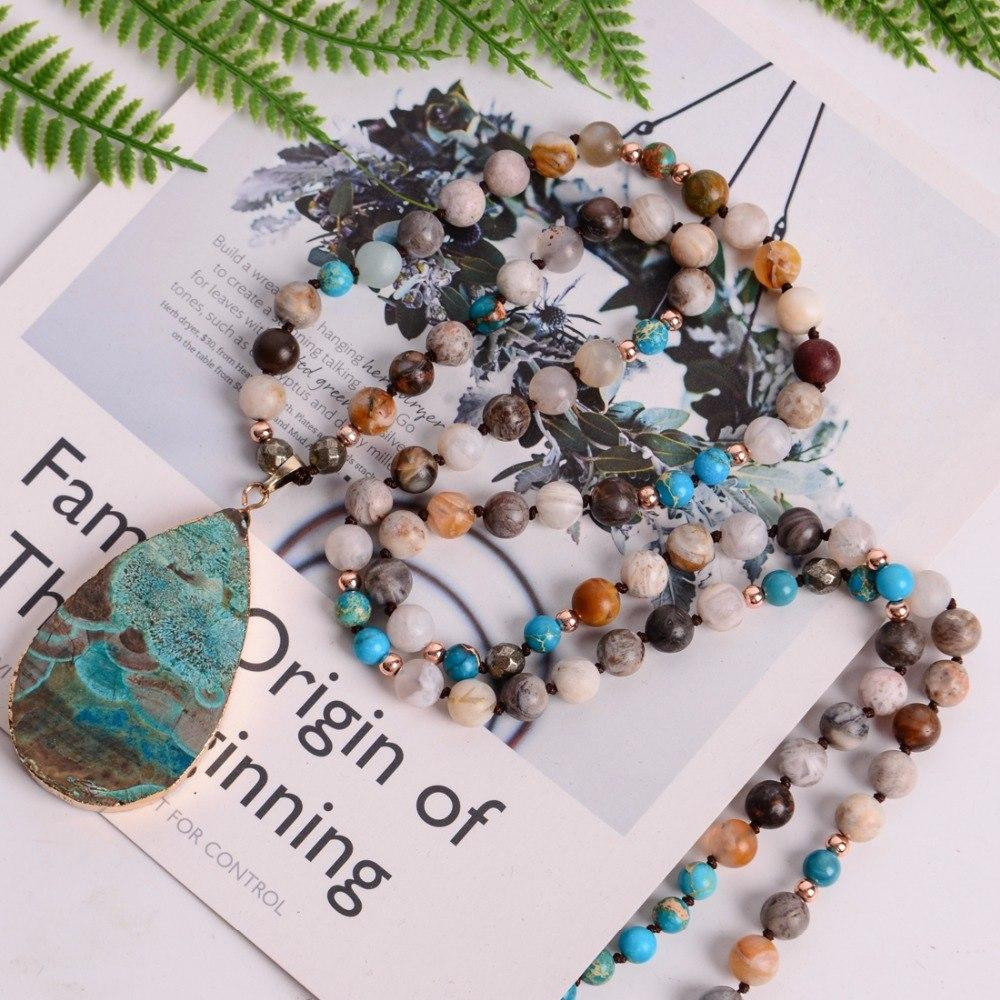 Hanging Crystal Beads for Vases Of Handmade Boho Necklace Mixed Natural Stones Big Teardrop Pendant Pertaining to Simplee V Neck Ruffle Floral Print Summer Dress Women Backless Strap Boho Dress Long Sleeveless Split