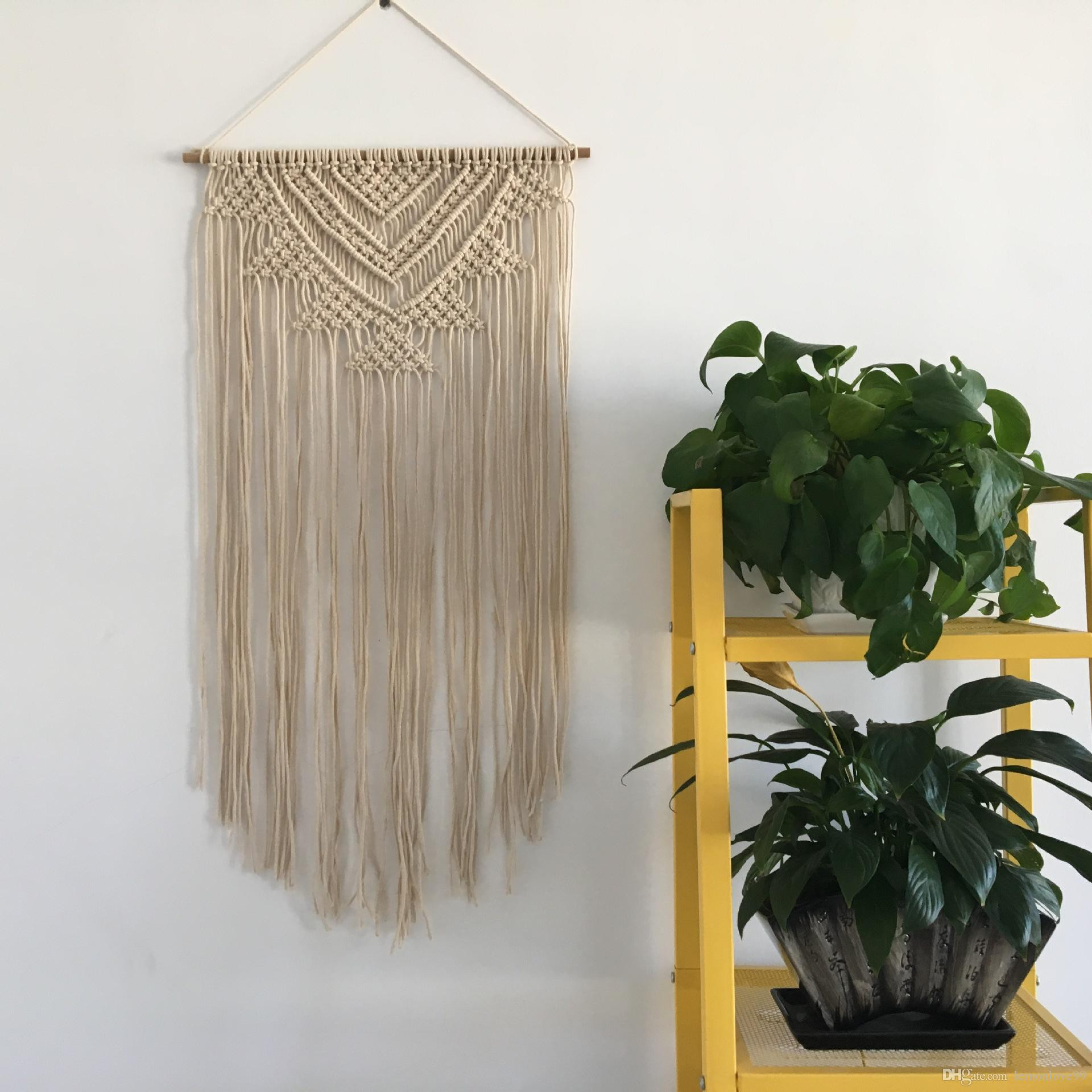 hanging glass vase with rope of cotton rope handmade bead macrame tapestry wedding wall hanging home throughout cotton rope handmade bead macrame tapestry wedding wall hanging home decor retro handwoven cotton thread craft unique decoration supplies wall hanging