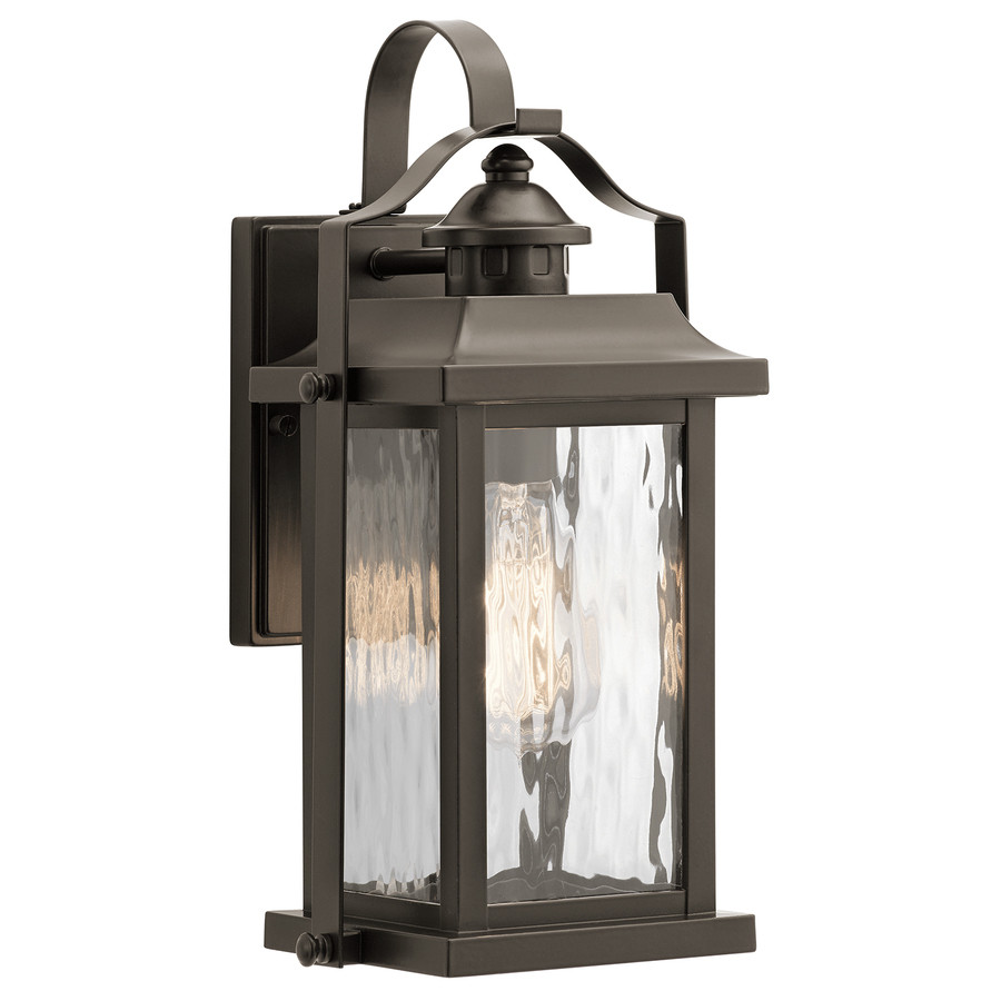 Hanging Lightbulb Vase Of Shop Outdoor Wall Lights at Lowes Com Pertaining to Kichler Linford 13 75 In H Olde Bronze Medium Base E 26 Outdoor