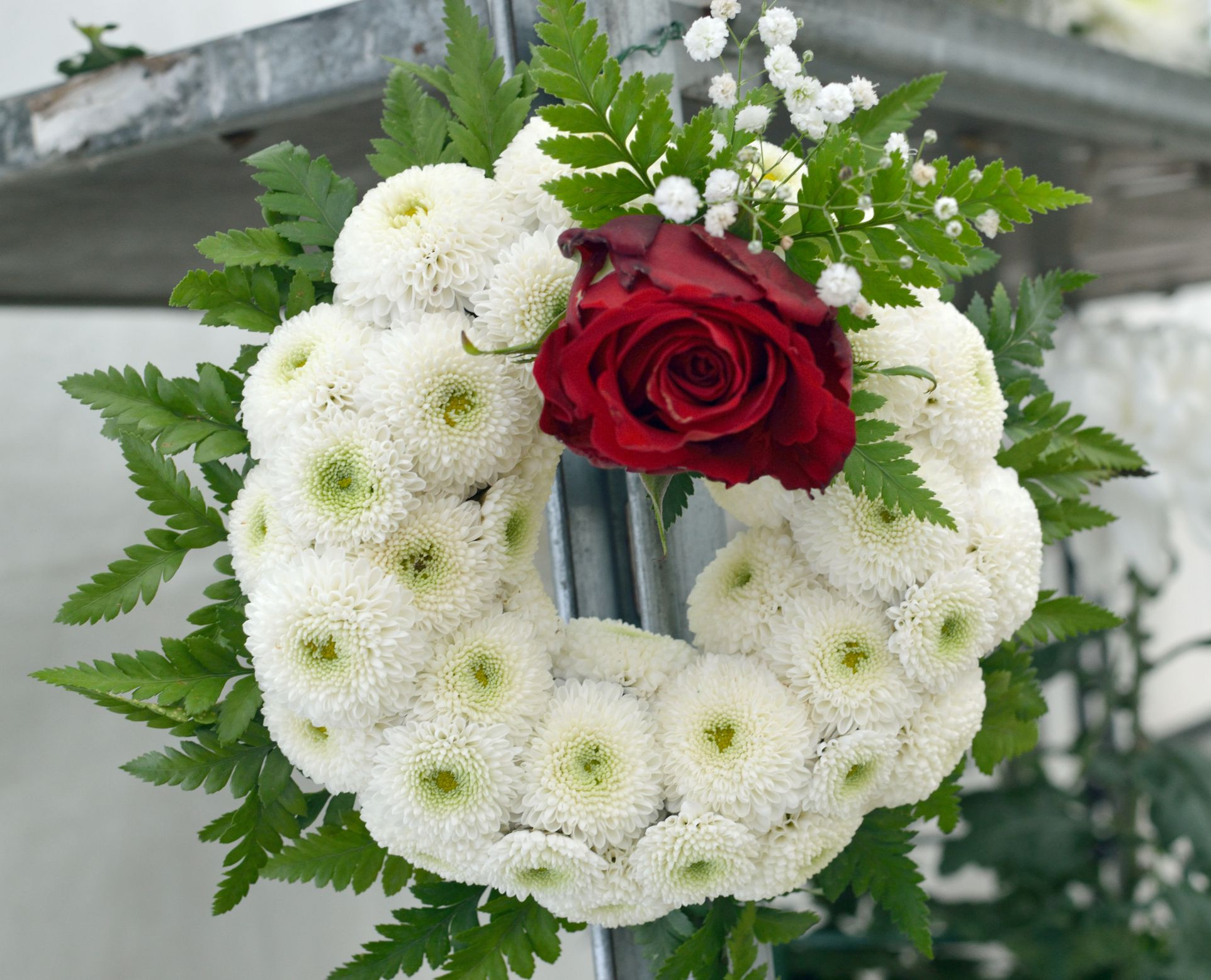 Headstone Vase Flower Arrangements Of Proper Etiquette for Sending Funeral Flowers with Regard to Funeralwreath Gettyimages 591655301 5a3edccc5b6e240037ffc773