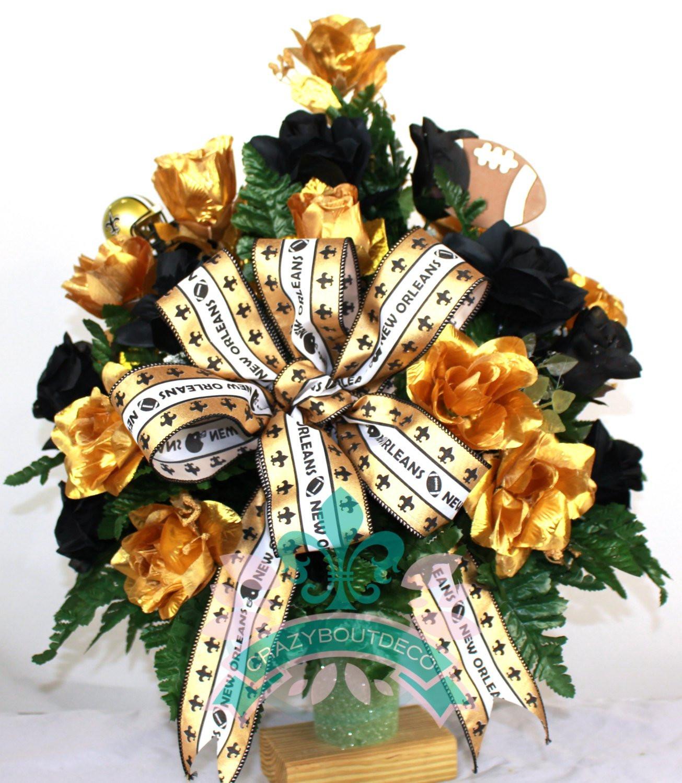 headstone vase holder of stay in the vase cemetery flowers with new orleans saints fan vase cemetery flower arrangement