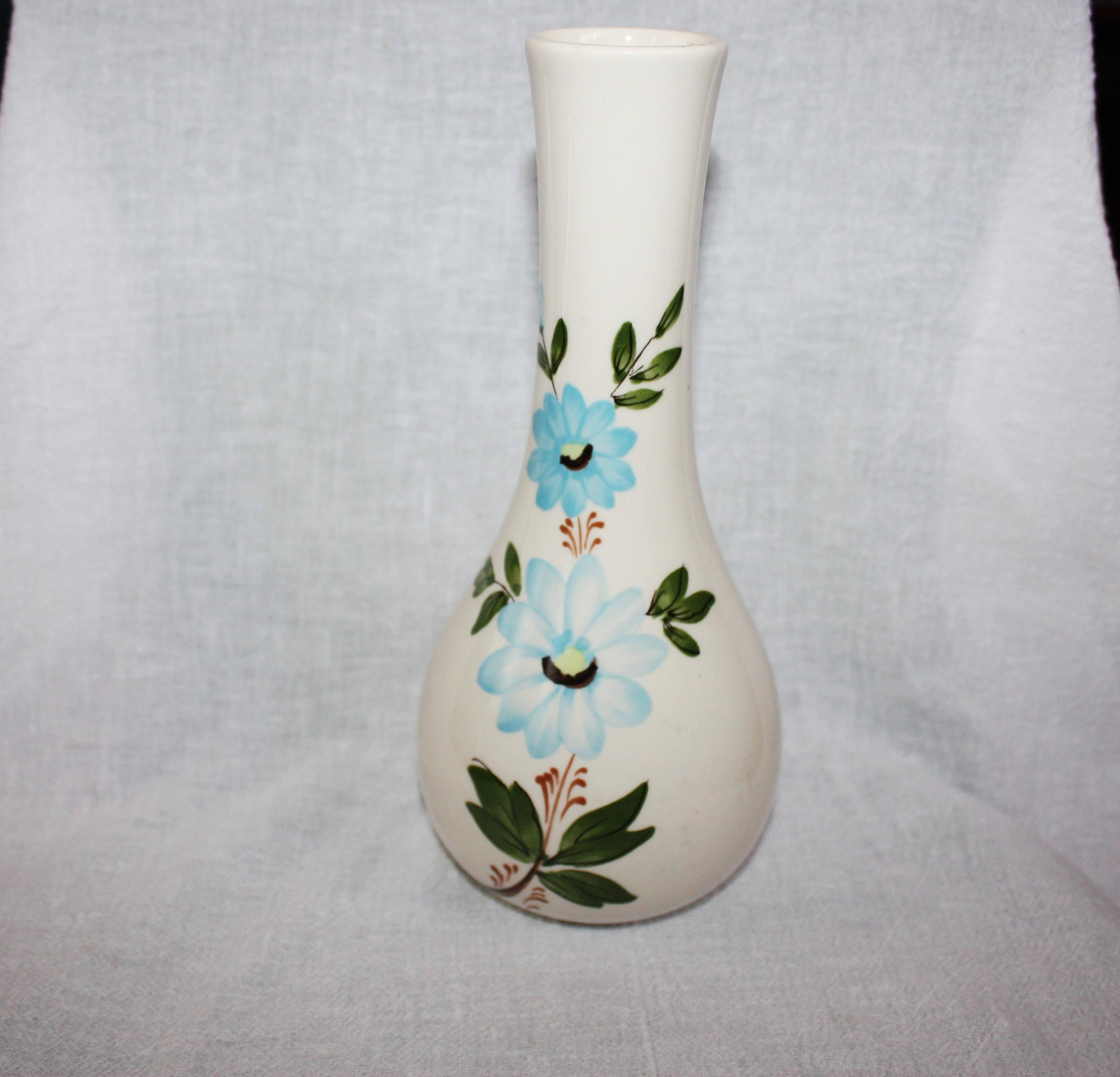 heart shaped glass vase of vintage 1979 sado portugal vase for ftda blue flowers etsy with regard to image 0