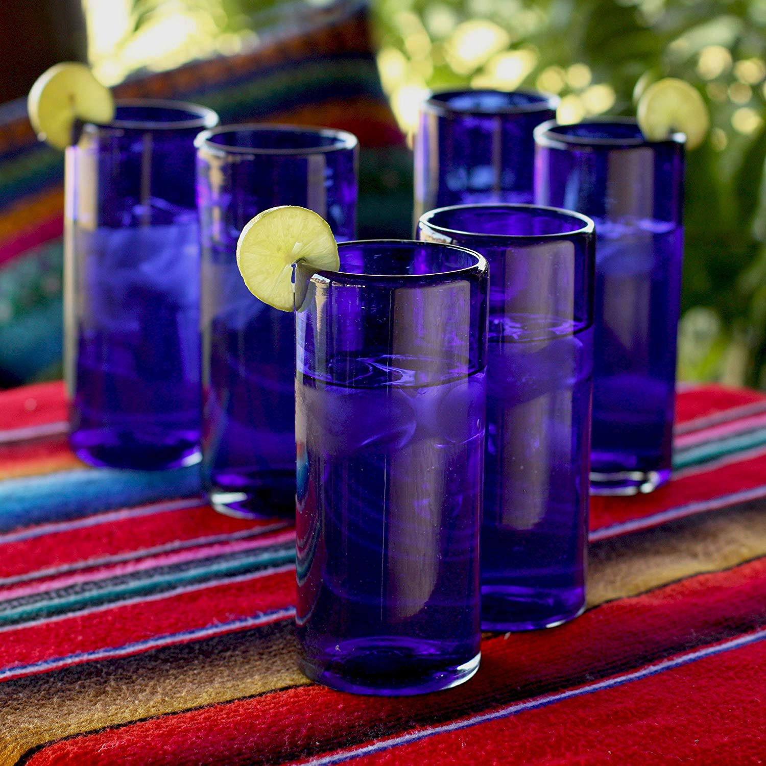 heavy blue glass vase of amazon com novica artisan crafted dark blue recycled glass hand within amazon com novica artisan crafted dark blue recycled glass hand blown cocktail glasses 13 oz pure cobalt set of 6 highball glasses