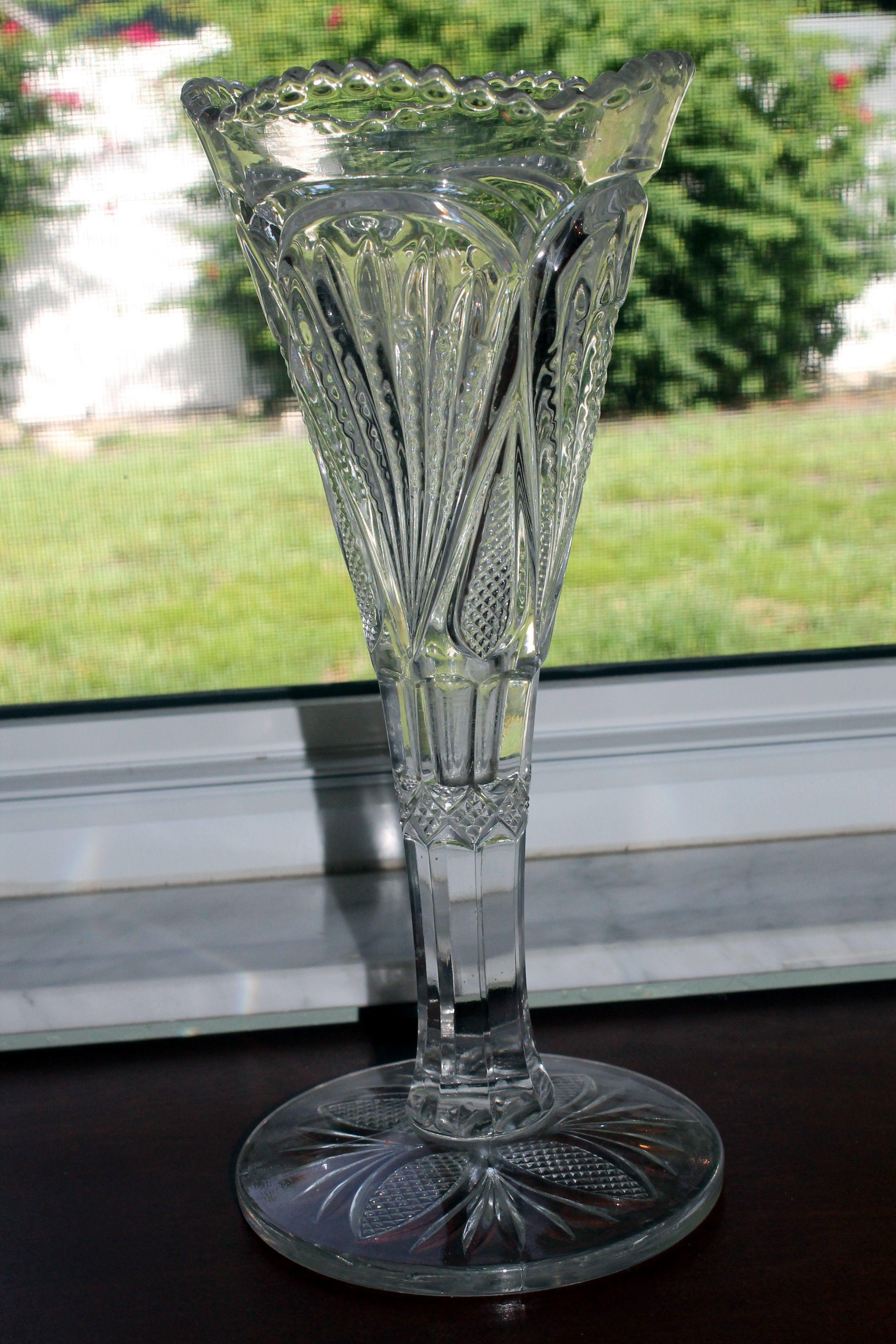 heisey glass vase of eapg flared vase punty diamond point heisey glass circa 1900 1907 within eapg flared vase punty diamond point heisey glass circa 1900 1907 heisey pinterest glass
