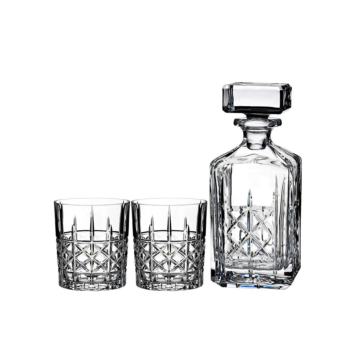 Heritage Irish Crystal Vase Of Amazon Com Marquis by Waterford Brady Decanter and Double Old In Amazon Com Marquis by Waterford Brady Decanter and Double Old Fashion Set Decanters