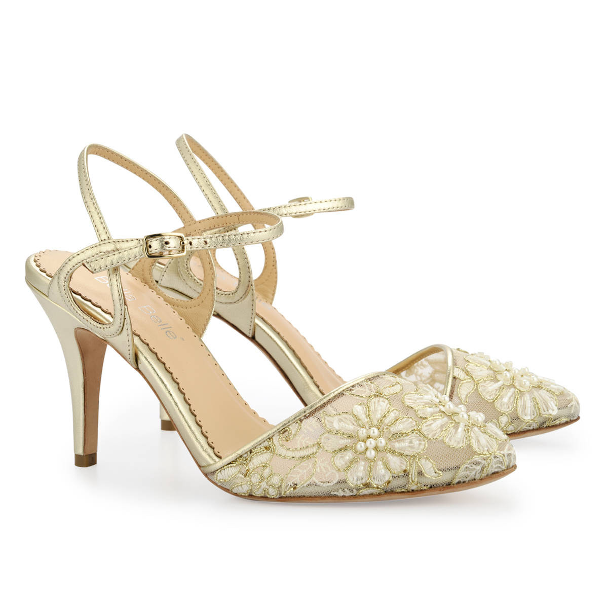 27 Amazing High Heel Shoe Vase 2021 free download high heel shoe vase of gold pearl embroidered lace kitten heel with ankle straps etsy inside image 0