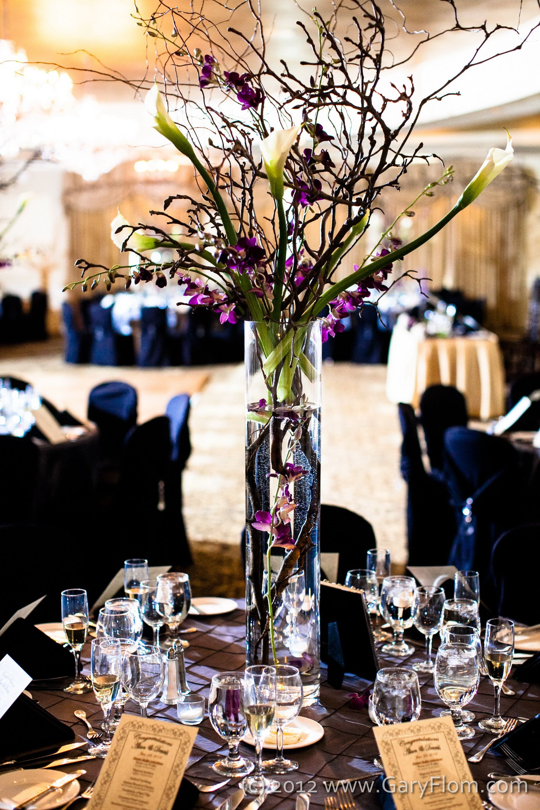 hobby lobby pilsner vase of centerpieces 6ft tall magnolia branches curly willow stems calla inside centerpieces 6ft tall magnolia branches curly willow stems calla lilies and purple orchids florist greens beans clinton nj venuegrand colonial