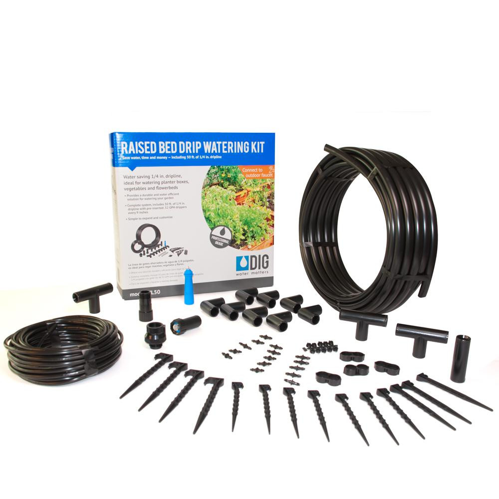 home depot outdoor vases of dig raised bed garden drip irrigation kit ml50 the home depot within dig raised bed garden drip irrigation kit