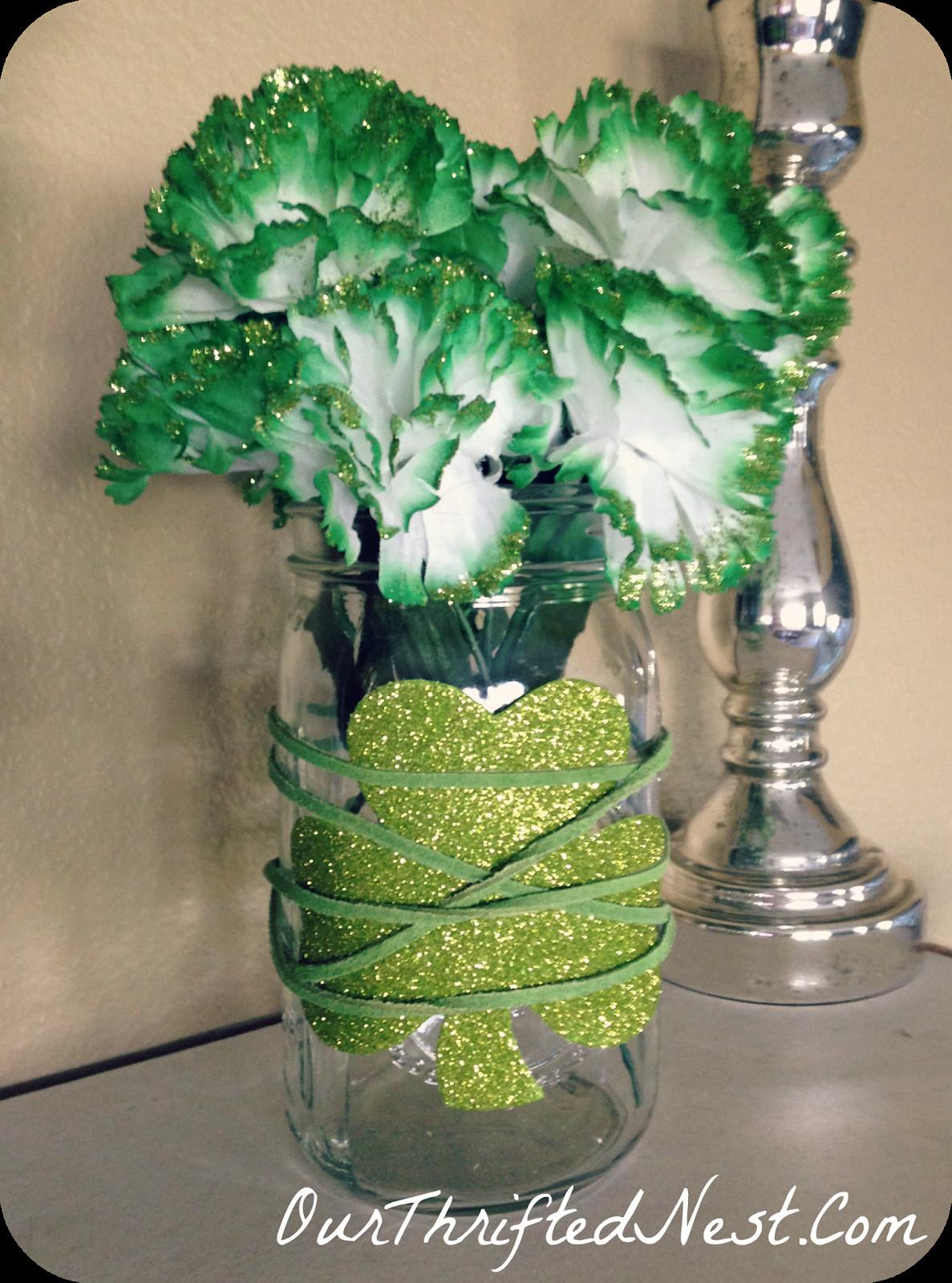 hoosier glass vase 4094 of 25 mason jar ideas for st patricks day for st patricks day mantel decor