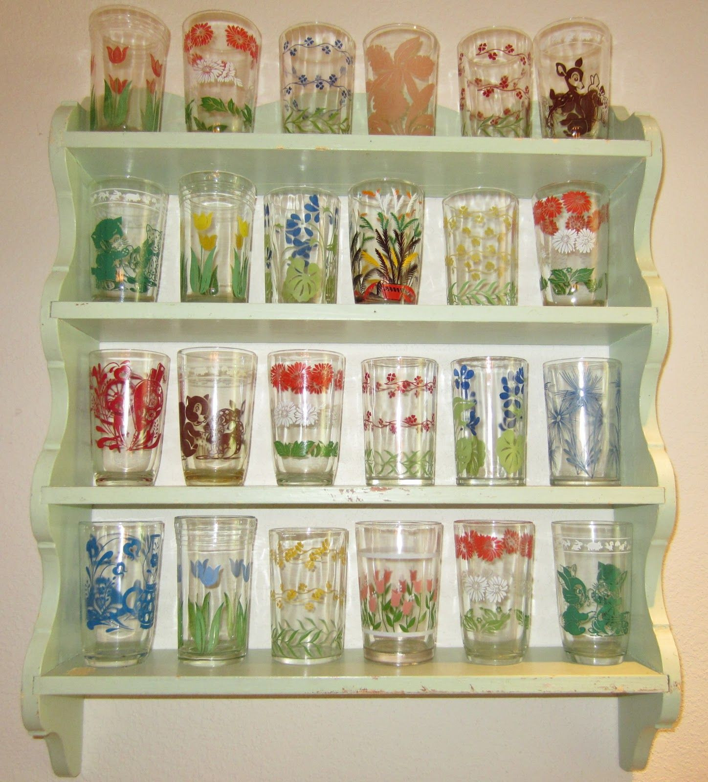 hoosier glass vase 4094 of i need a collection vintage juice glasses i need a shelf like with regard to i need a collection vintage juice glasses i need a shelf like this to display my collection