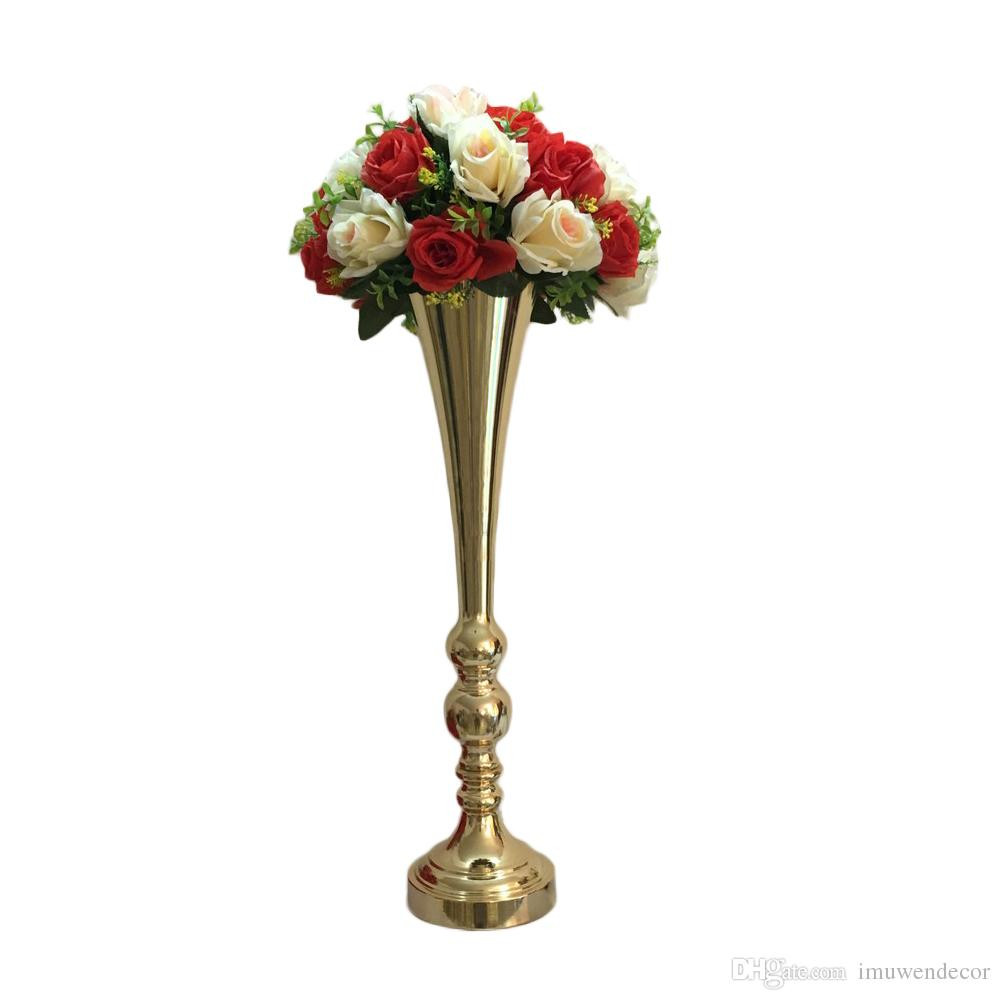 How to Make A Flower Vase at Home Of Flower Vase 62 Cm Height Metal Wedding Centerpiece event Road Lead Intended for Flower Vase 62 Cm Height Metal Wedding Centerpiece event Road Lead Party Home Flower Rack Decoration Handmade Vases Hanging Vases From Imuwendecor