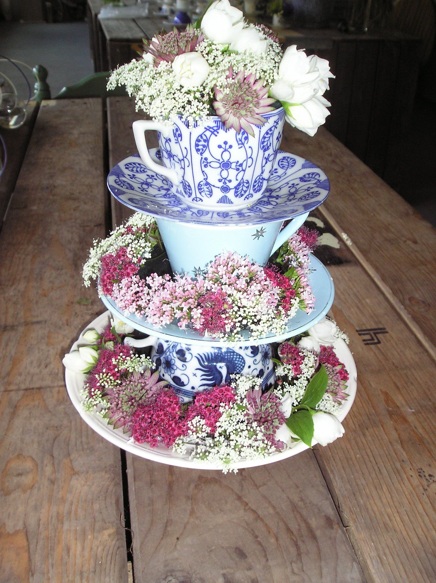 how to make floating flowers in vase of etagere smart upcycled diy pinterest teas craft and shabby in cfa10d3b361fe7159145c71d0b572afe