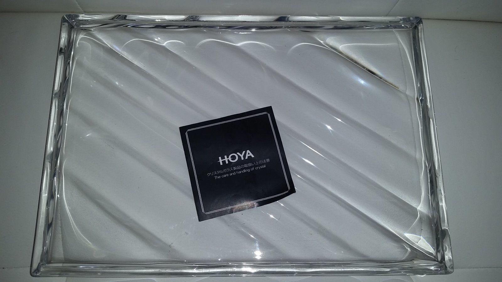 hoya crystal vase of nib hoya crystal small nut mint bowl dishes 1806702137 for hoya crystal platter nib