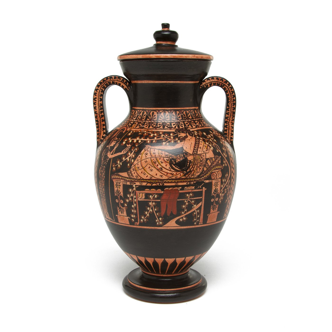 hull usa pottery vase of murano the getty store pertaining to greek belly amphora vase herakles