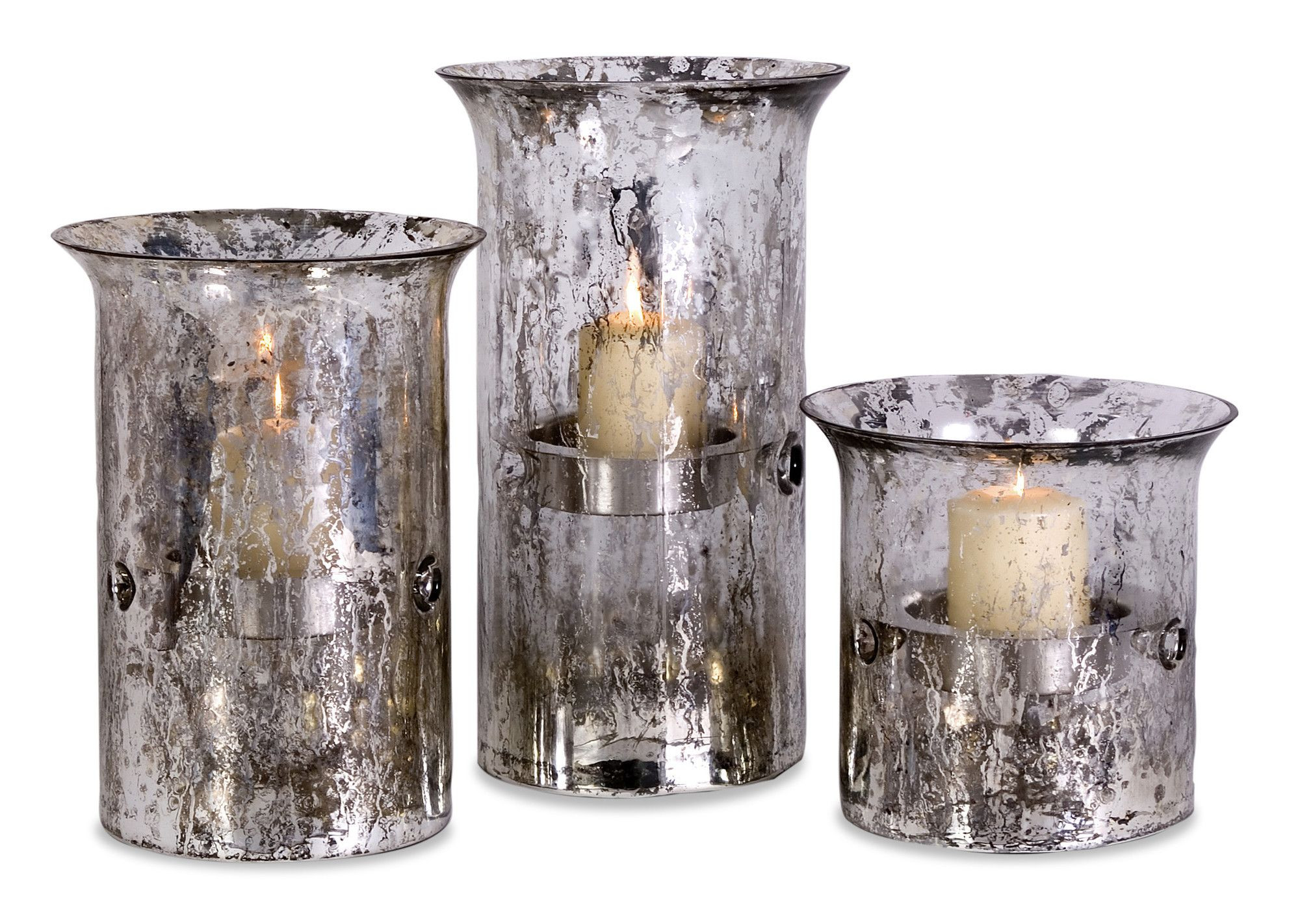 hurricane vase with pillar candle of mercury glass hurricanes wayfair swiss lane remodel pinterest throughout candle holders